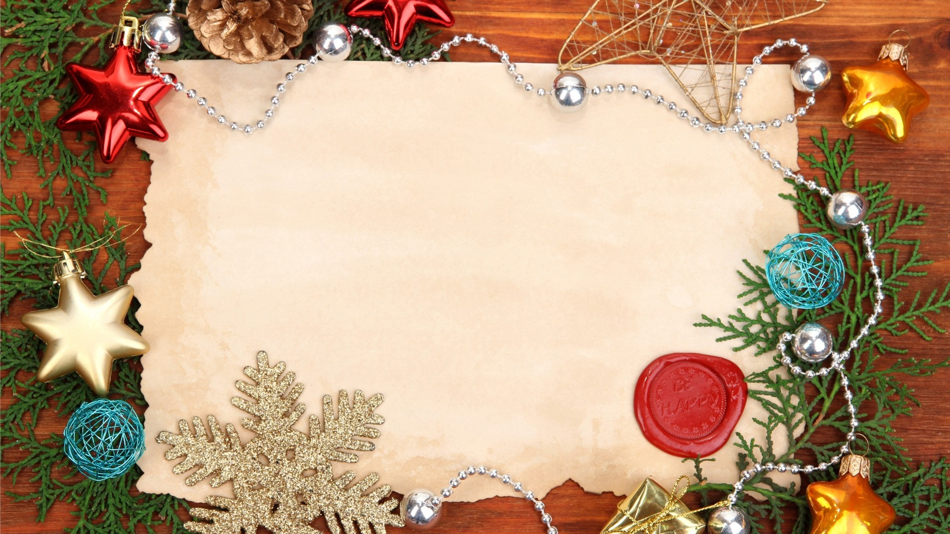 New Year Branch Frame HD Download