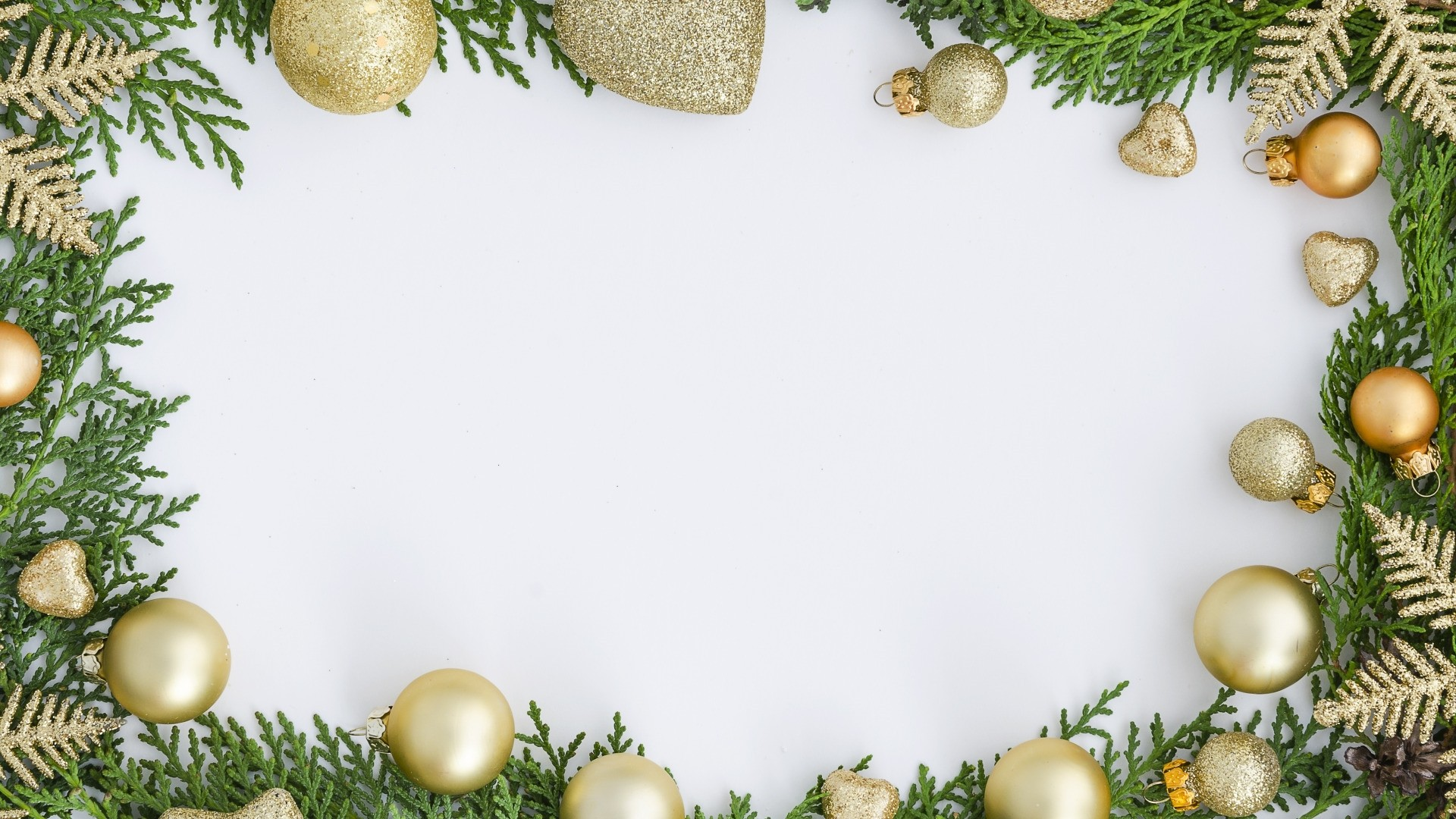 New Year Branch Frame hd wallpaper download