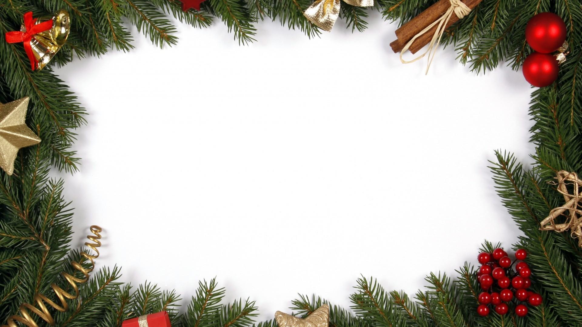 New Year Branch Frame HD Wallpaper