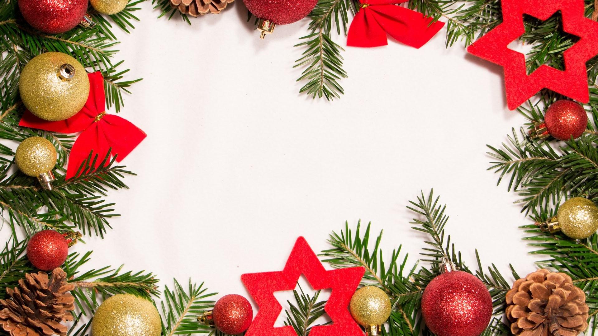 New Year Branch Frame Wallpaper theme
