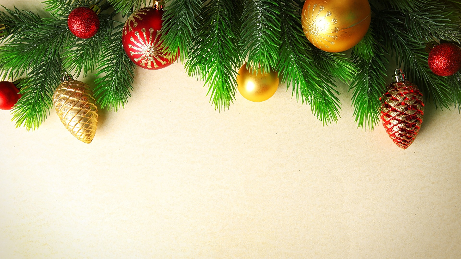 New Year Branches Free Wallpaper and Background