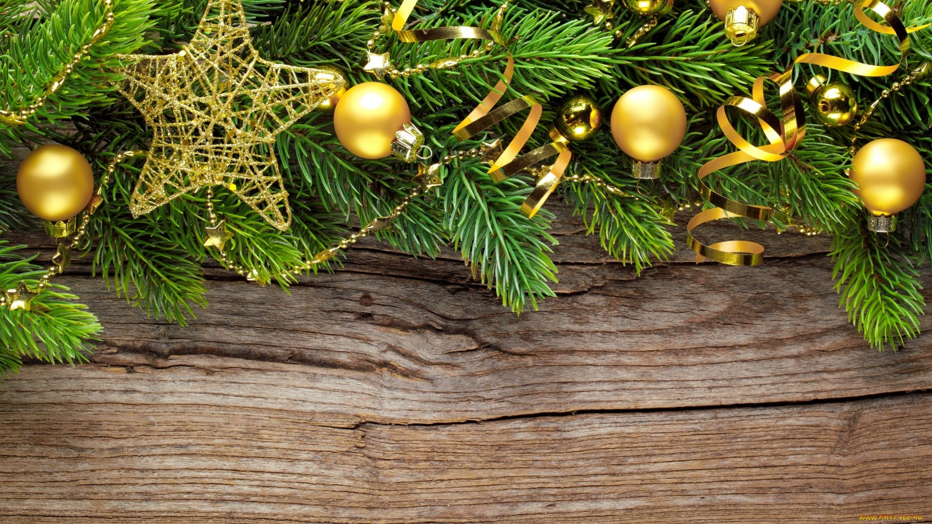 New Year Branches Wallpaper image hd