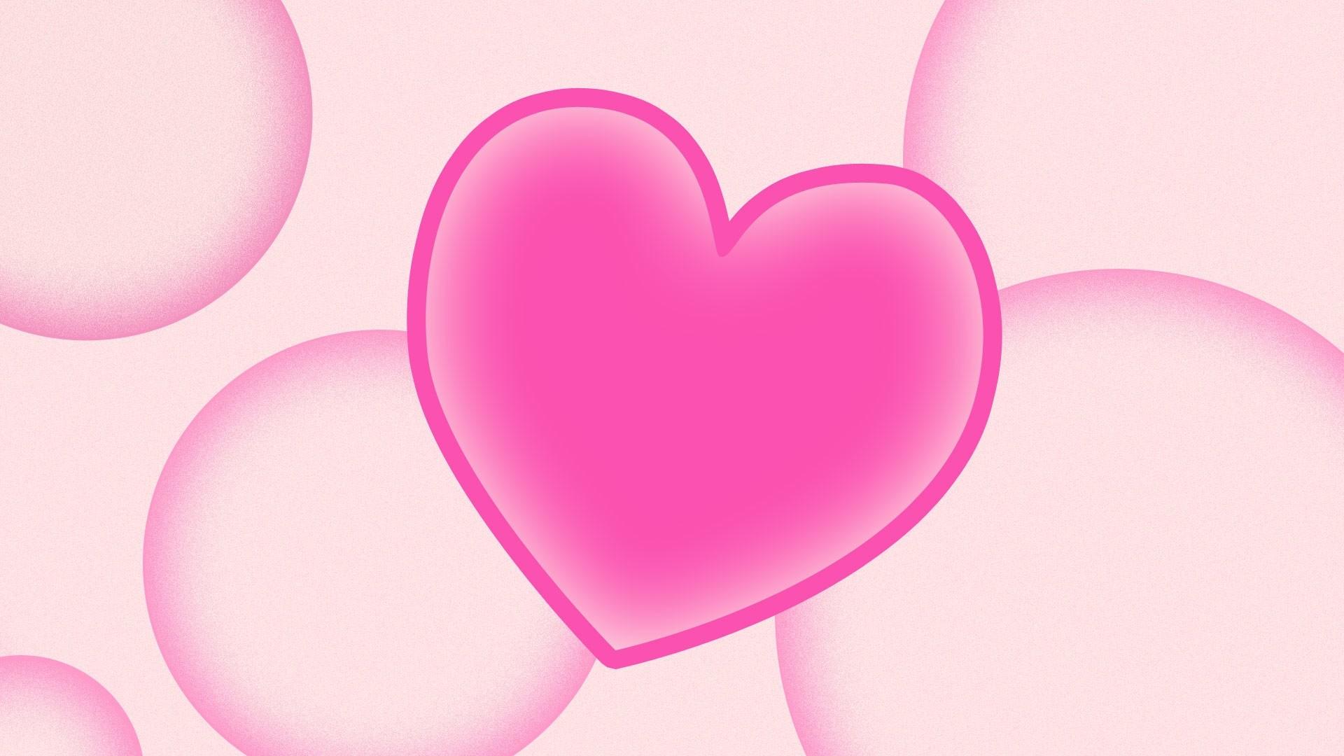 Pink Heart Desktop wallpaper