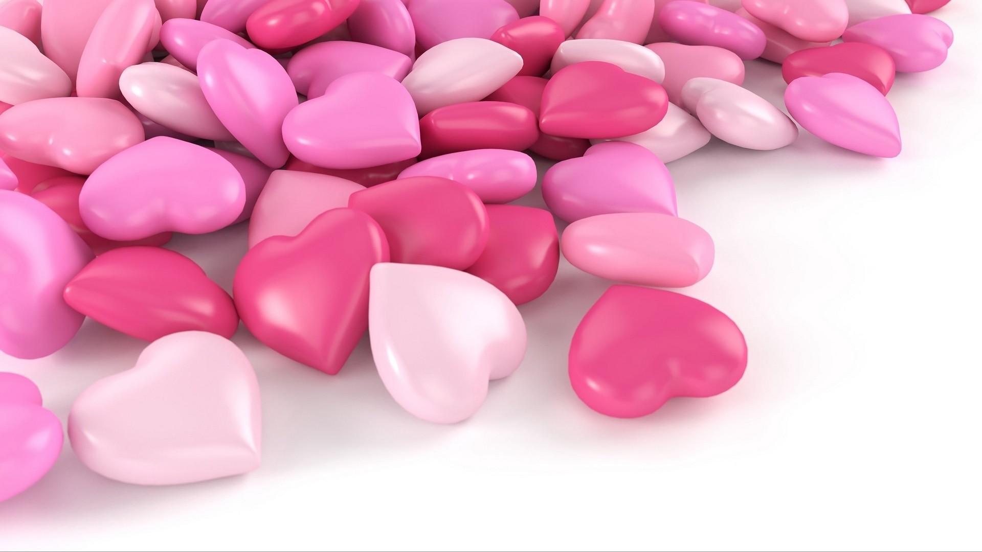 Pink Heart Full HD Wallpaper