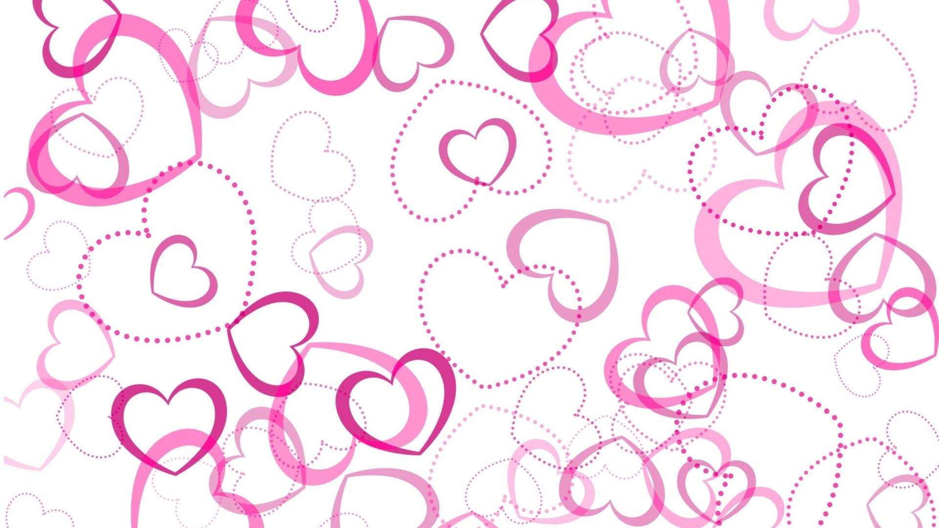 Pink Heart HD Wallpaper