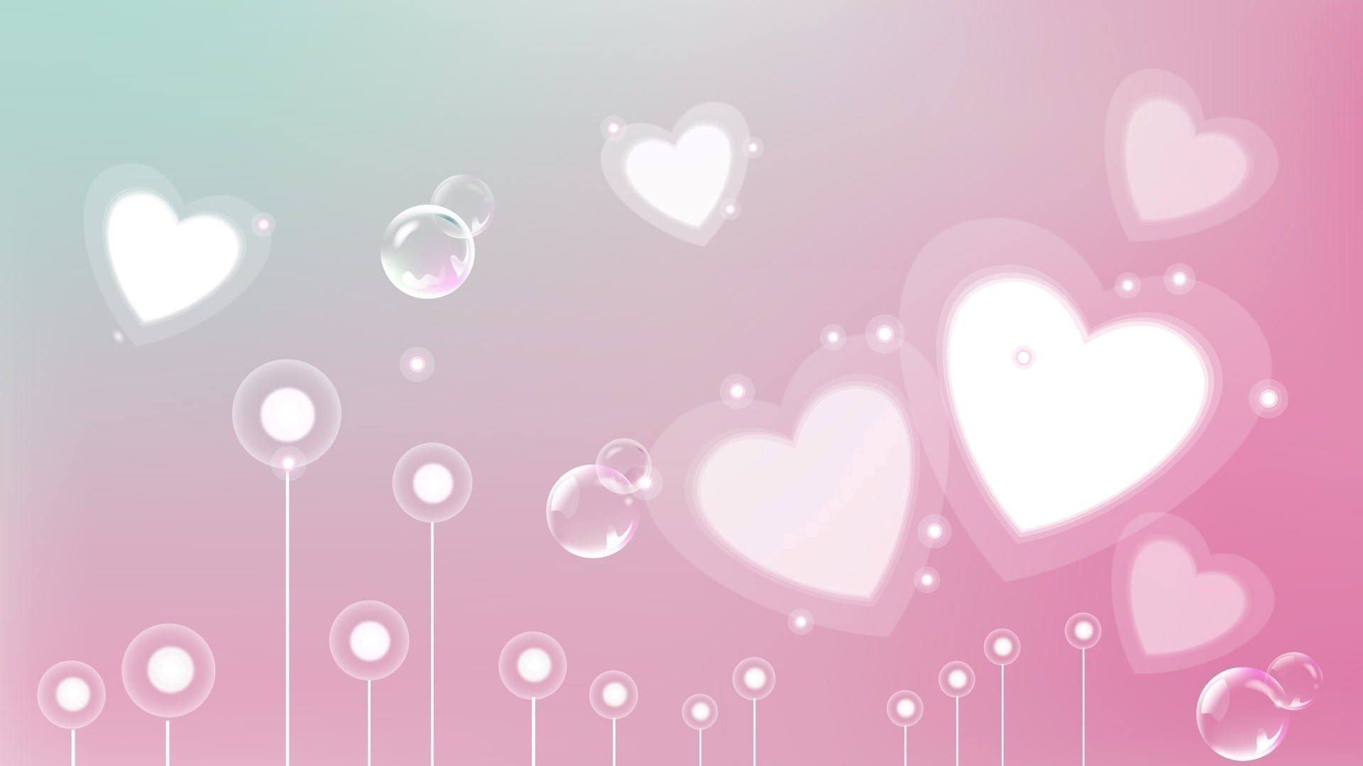 Pink Heart Wallpaper for pc