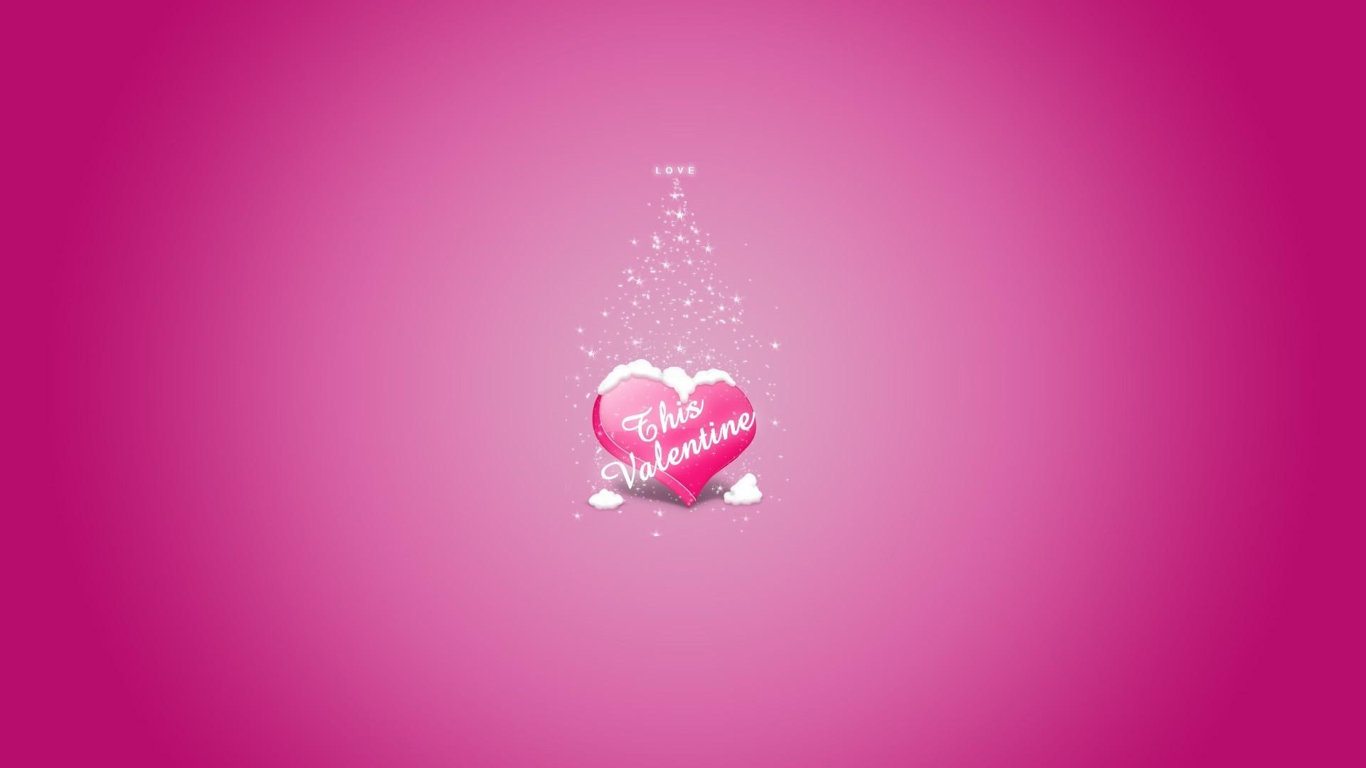 Pink Heart Wallpaper theme