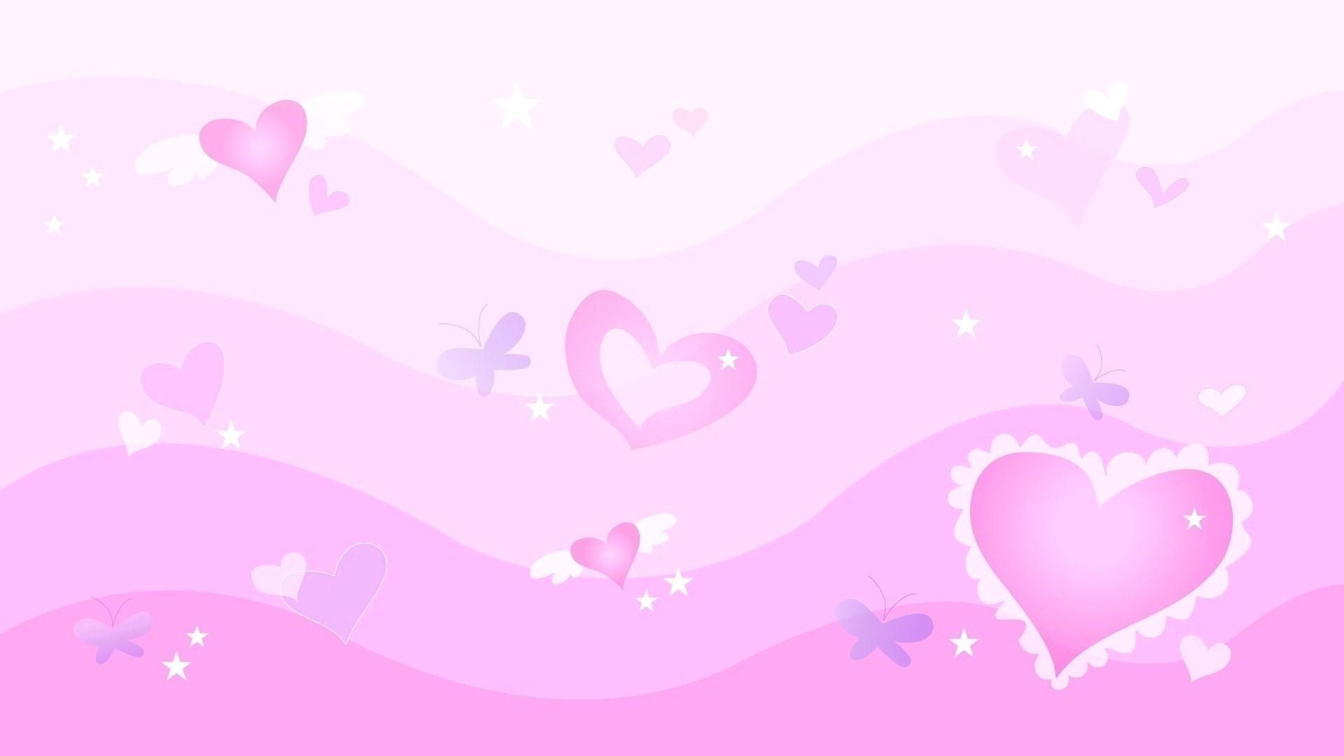 Pink Heart a wallpaper