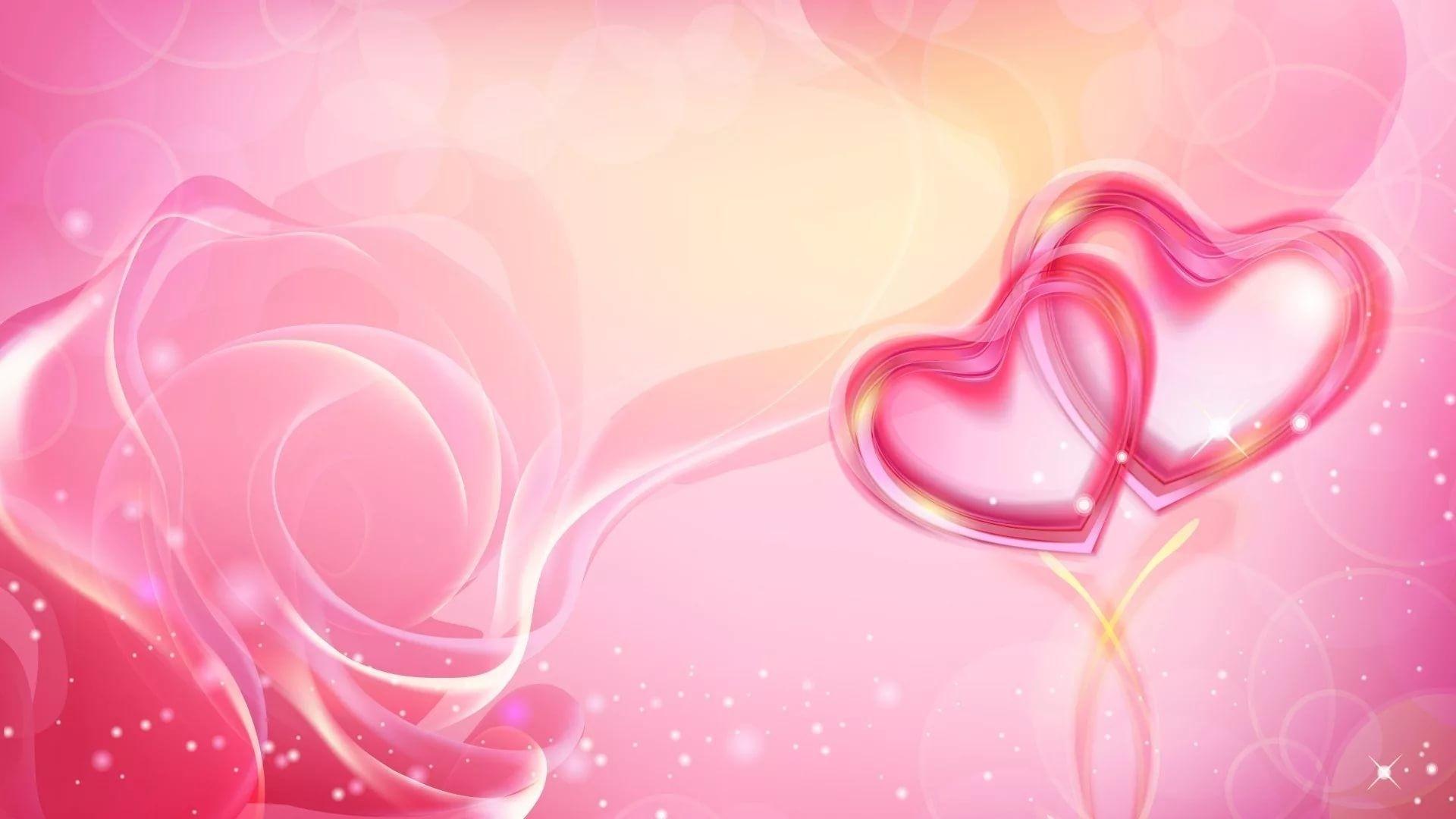Pink Heart Download Wallpaper