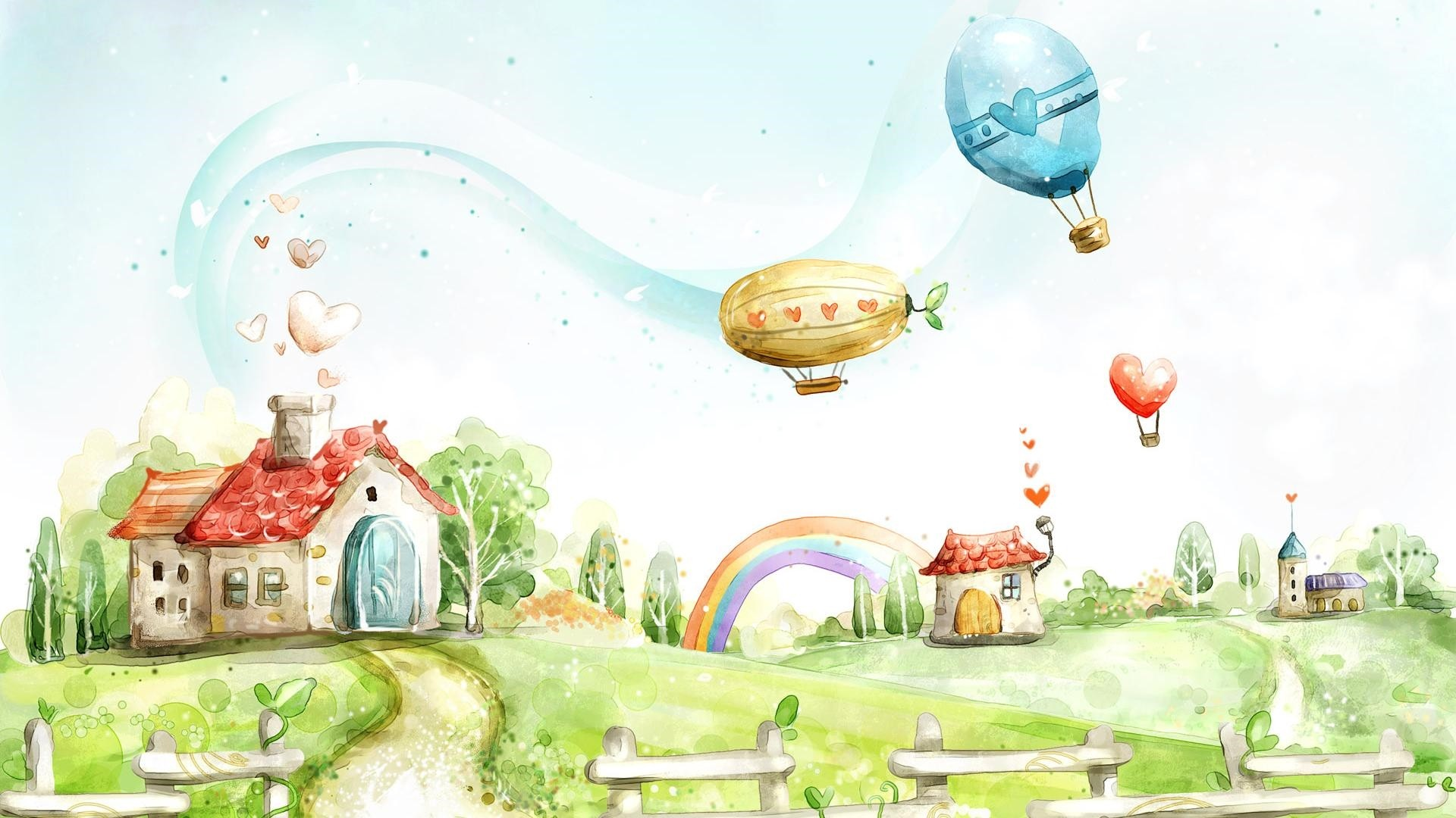 Children's Painting Wallpaper theme