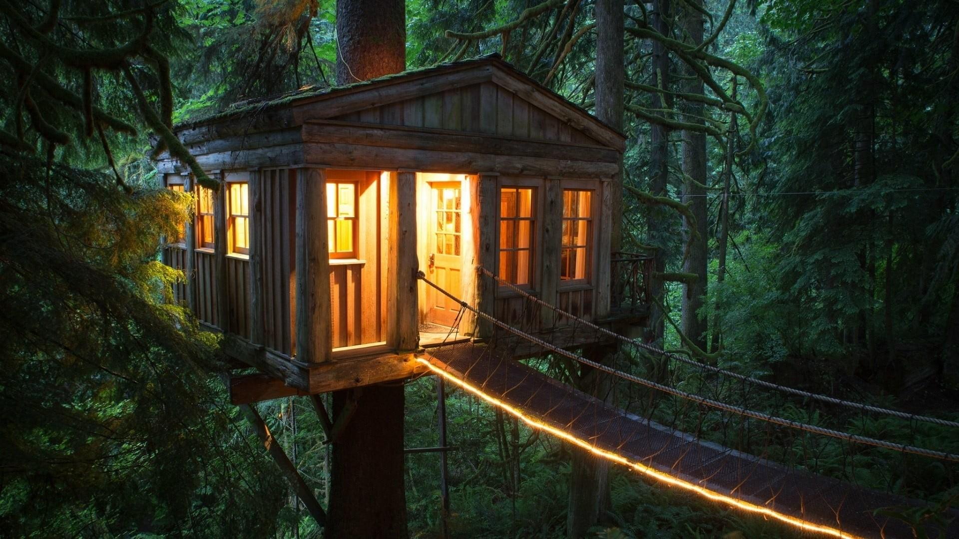 Cozy House Outside Wallpaper image hd