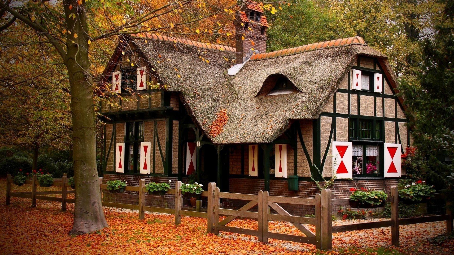 Cozy House Outside Wallpaper