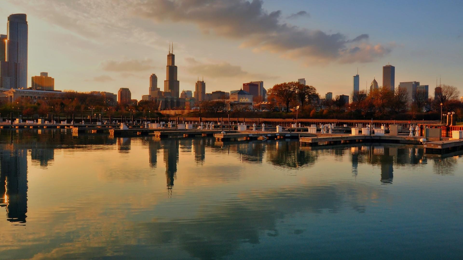 Panoramic Town HD Wallpaper