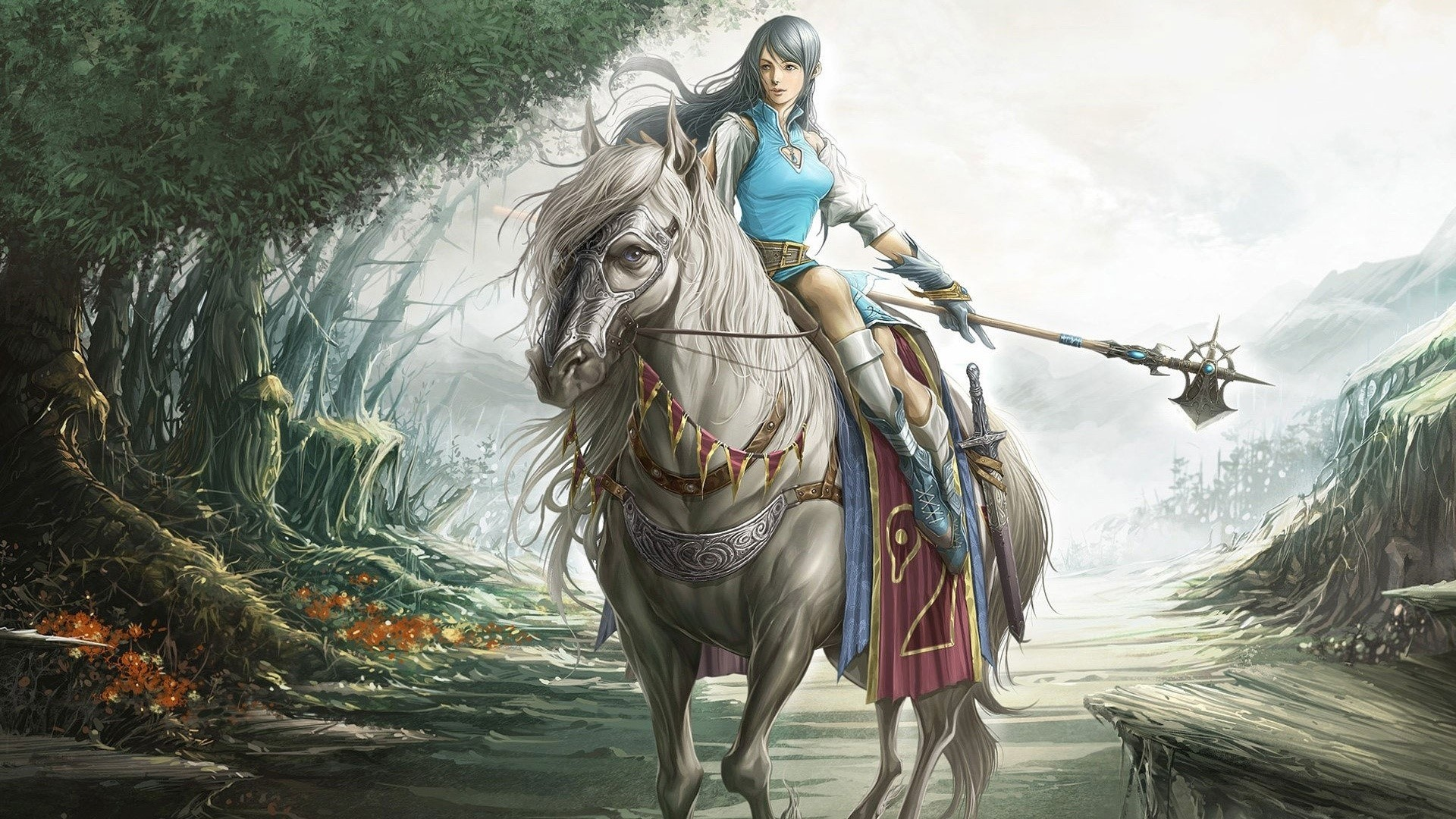 Rider On A Horse Art HD Wallpaper