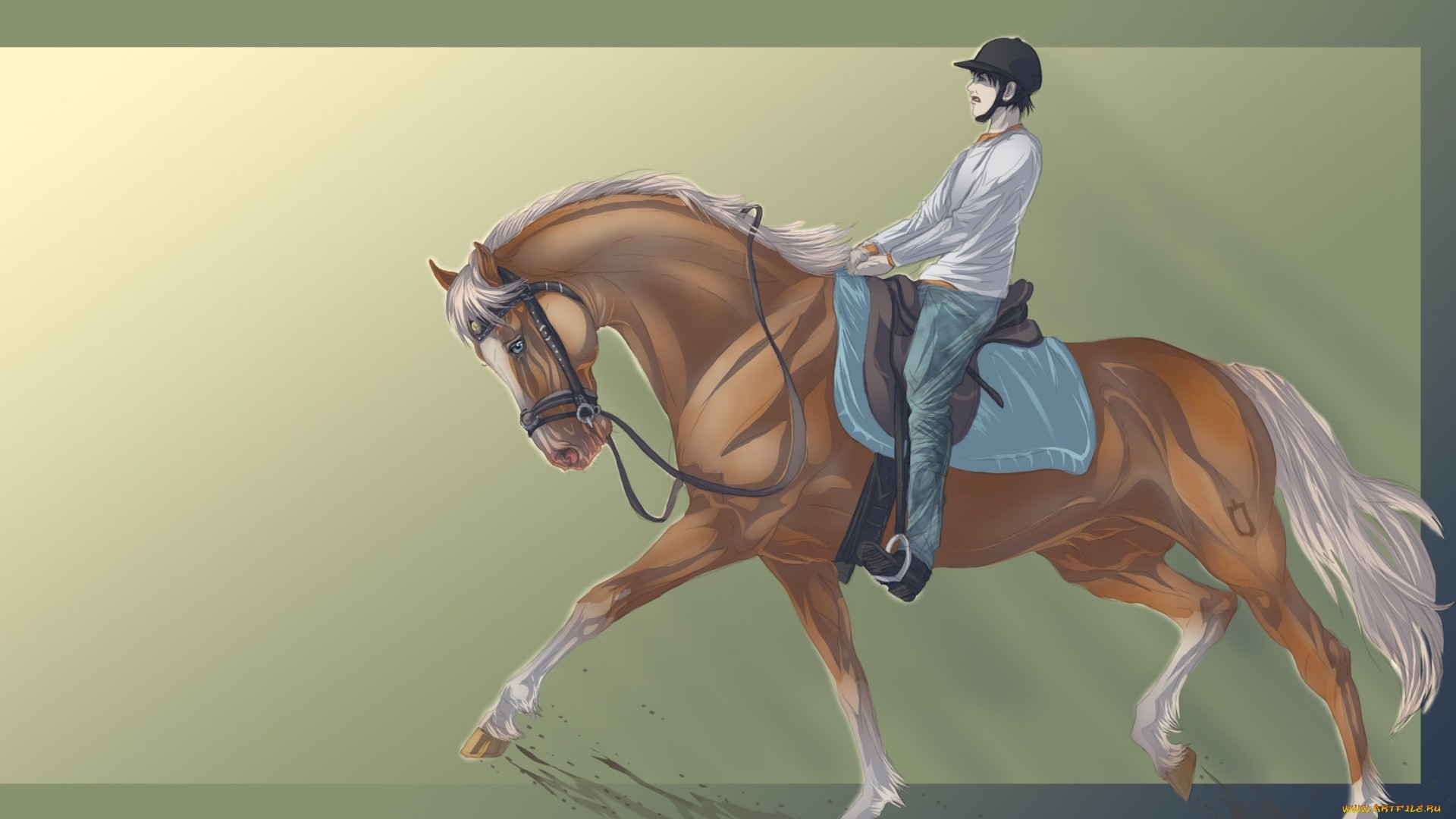 Rider On A Horse Art Image