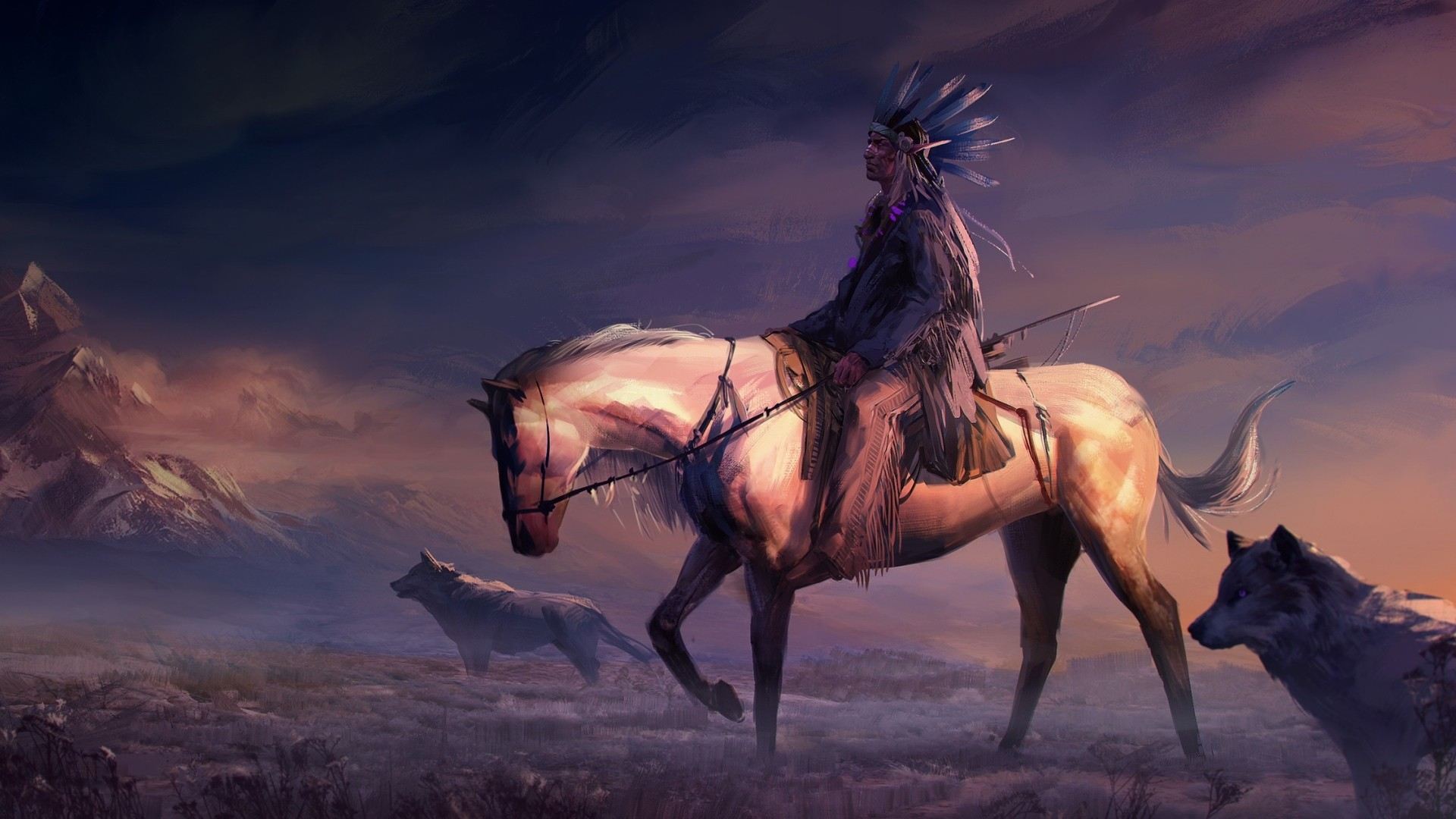 Rider On A Horse Art Picture