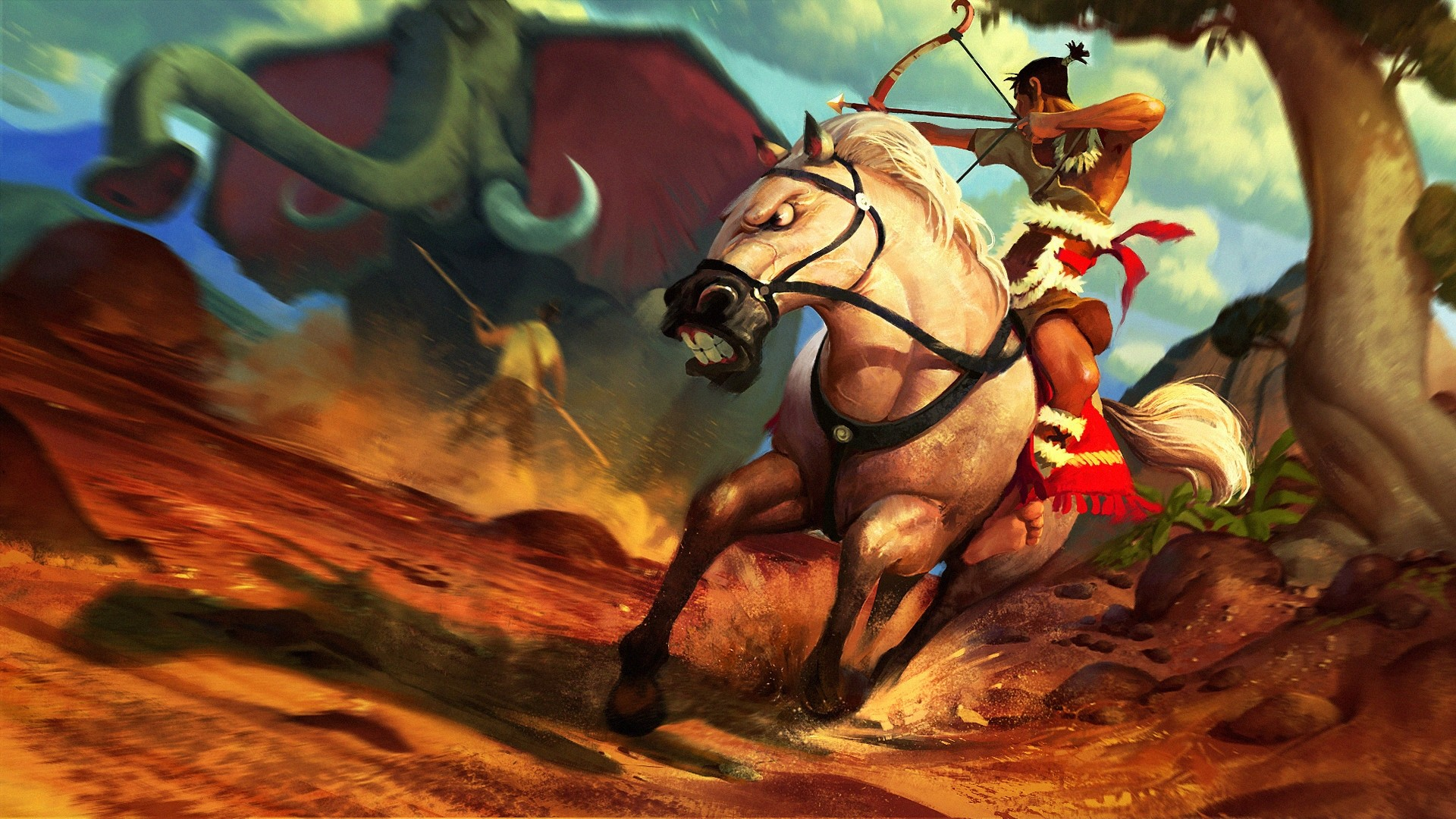 Rider On A Horse Art HD Download