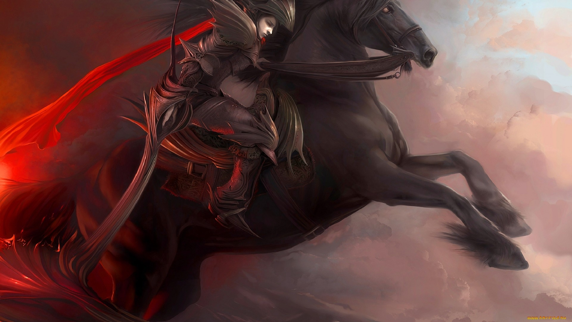 Rider On A Horse Art computer wallpaper