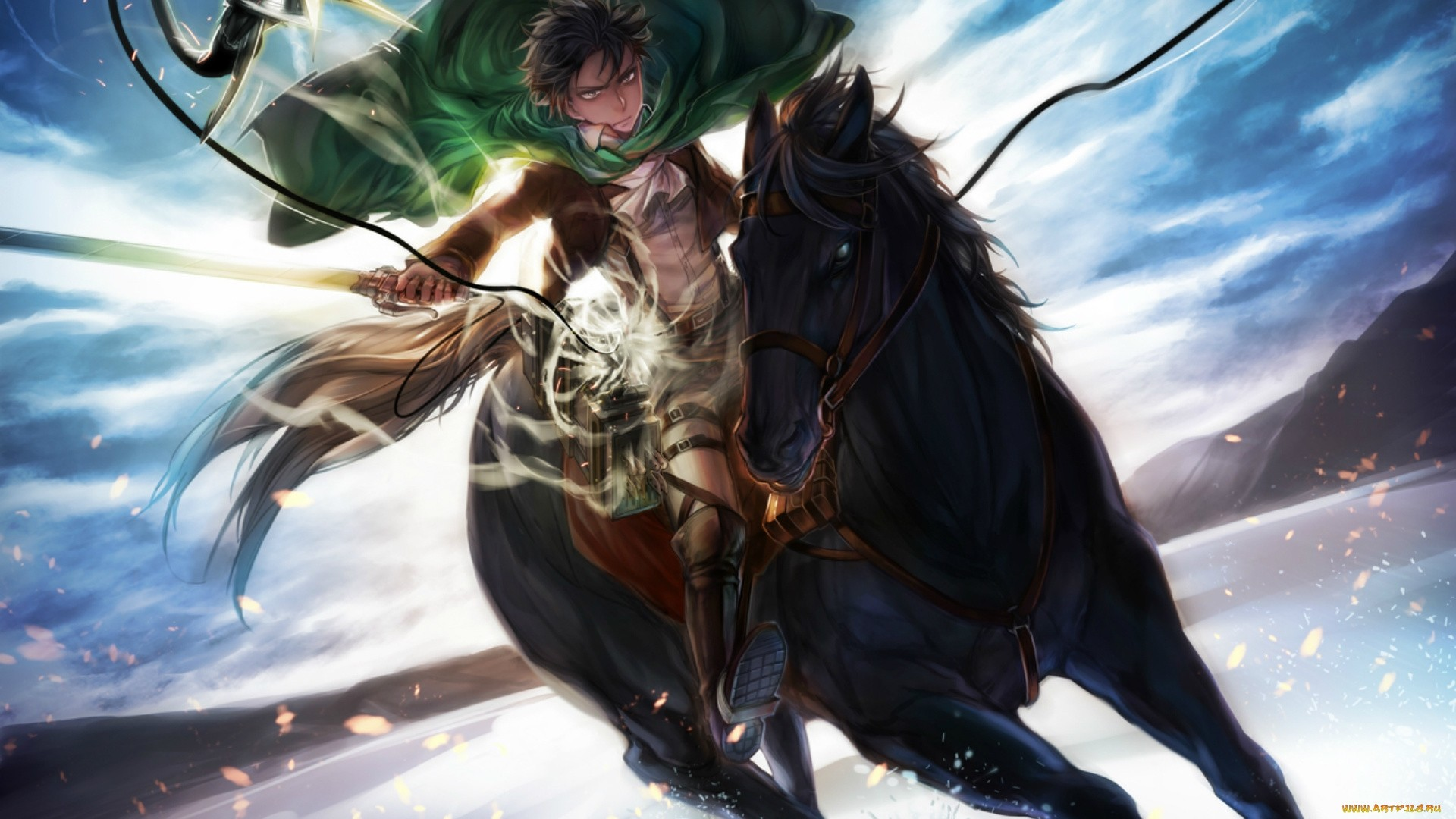 Rider On A Horse Art a wallpaper