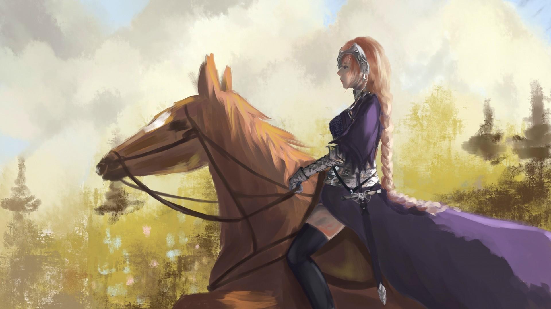 Rider On A Horse Art Download Wallpaper