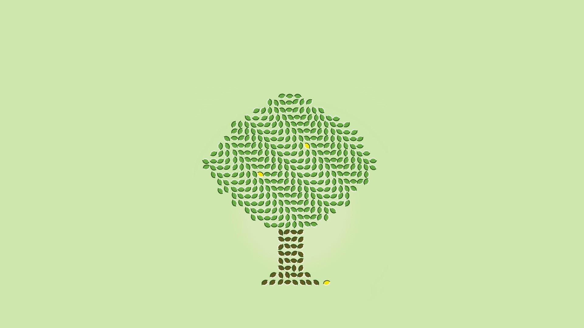 Tree Minimalist Wallpaper theme