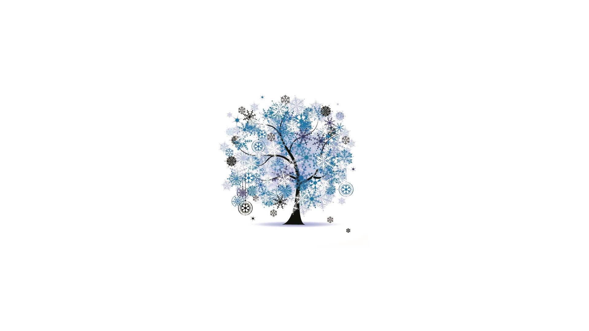Tree Minimalist Full HD Wallpaper