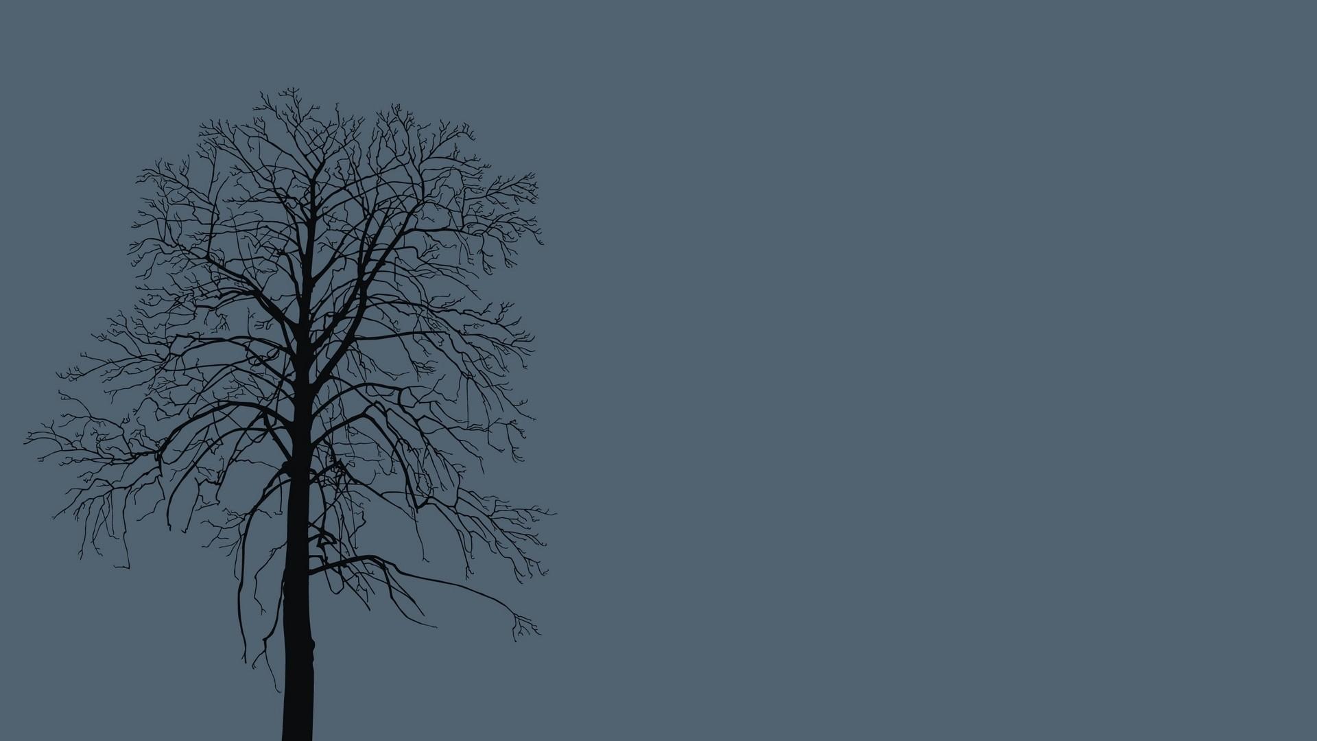 Tree Minimalist computer wallpaper