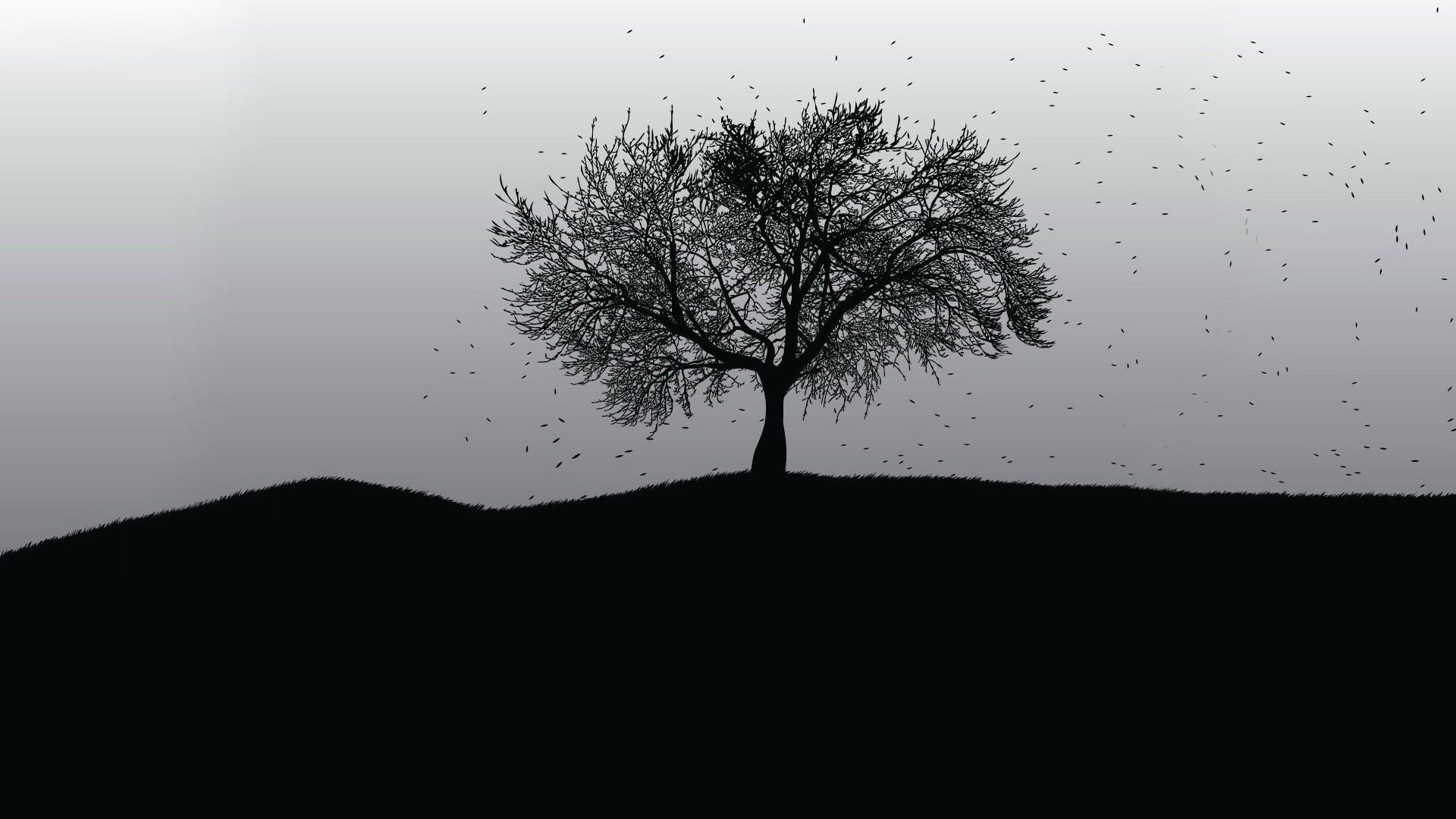 Tree Minimalist Wallpaper image hd