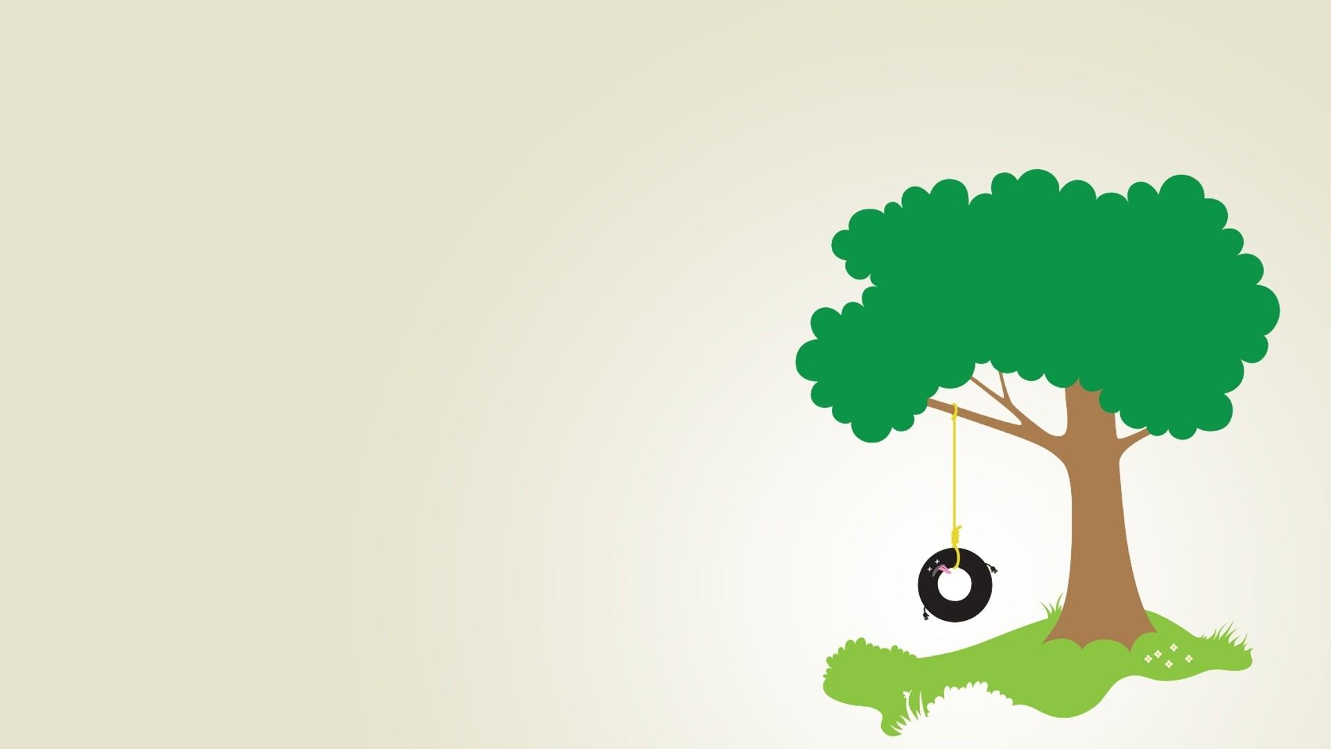 Tree Minimalist Free Wallpaper