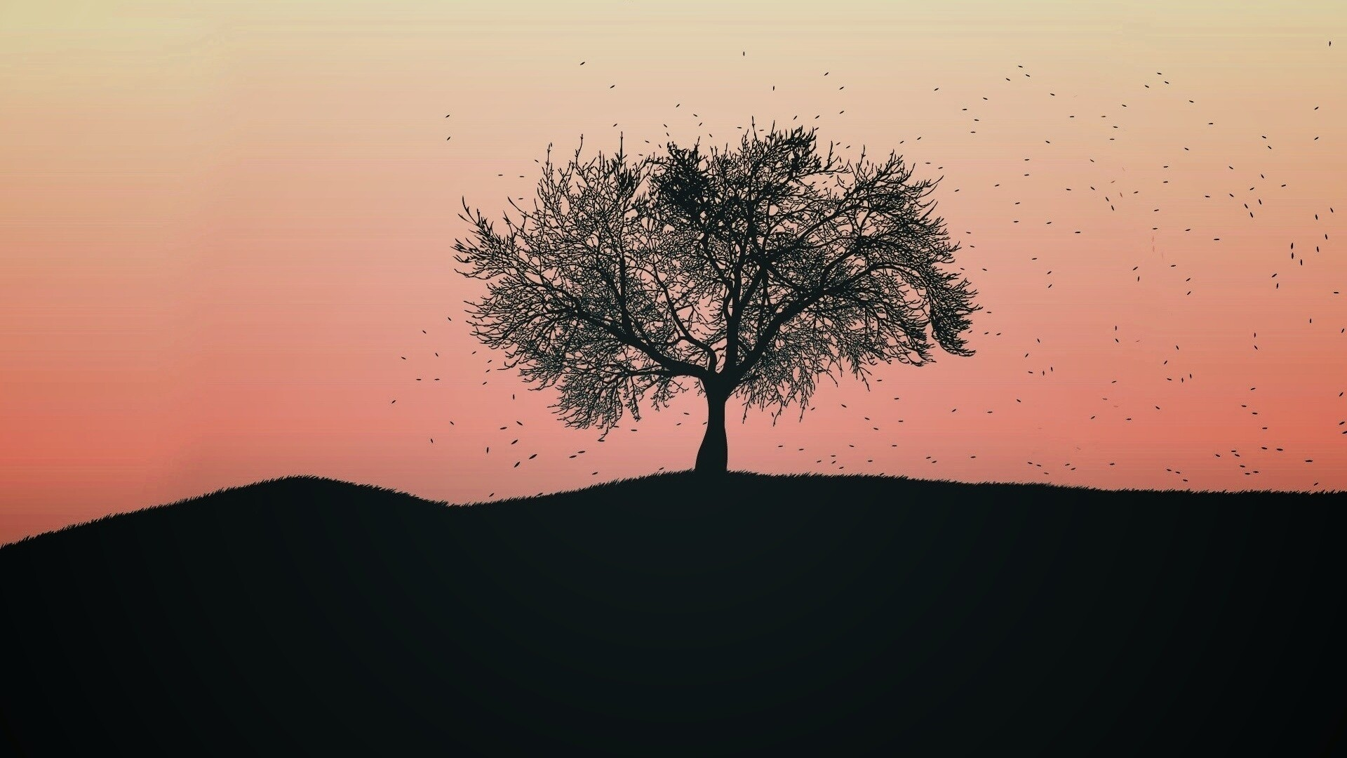 Tree Minimalist Free Wallpaper and Background