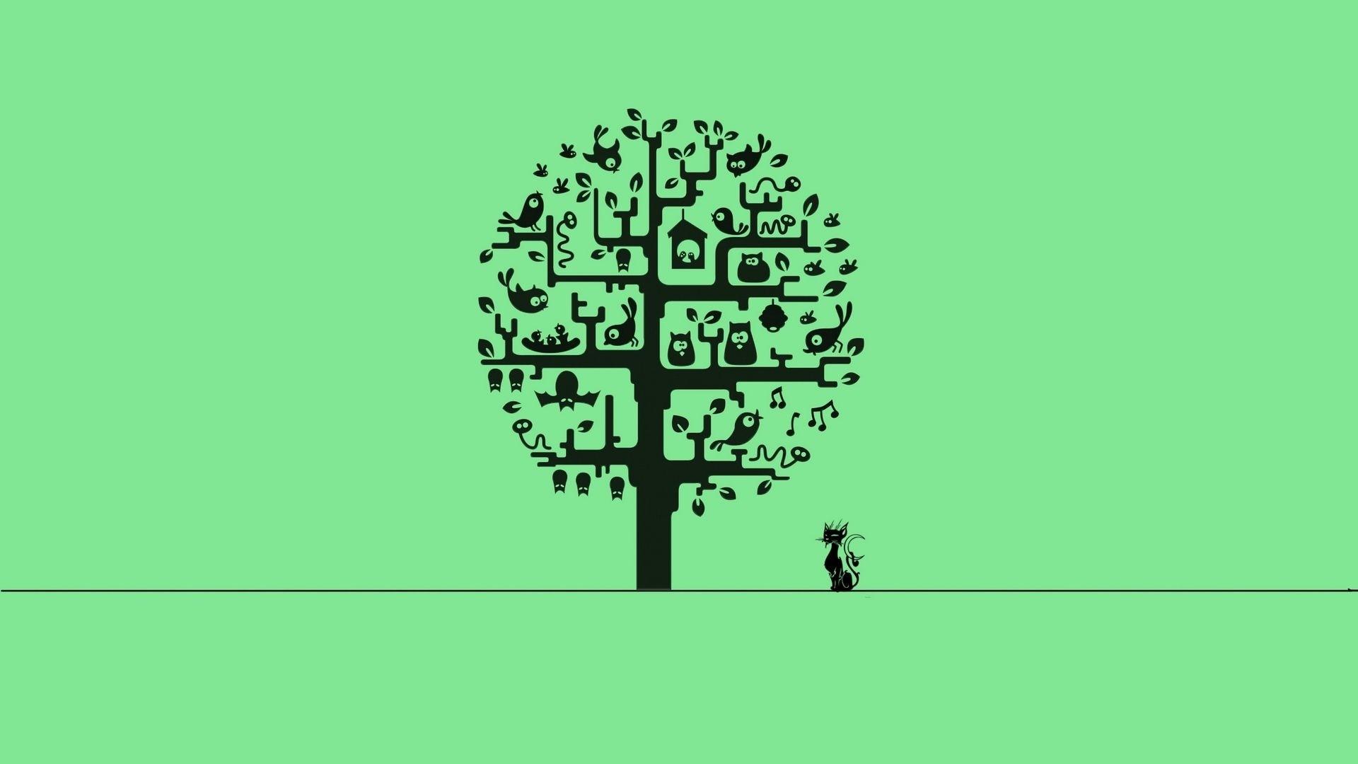 Tree Minimalist Wallpaper