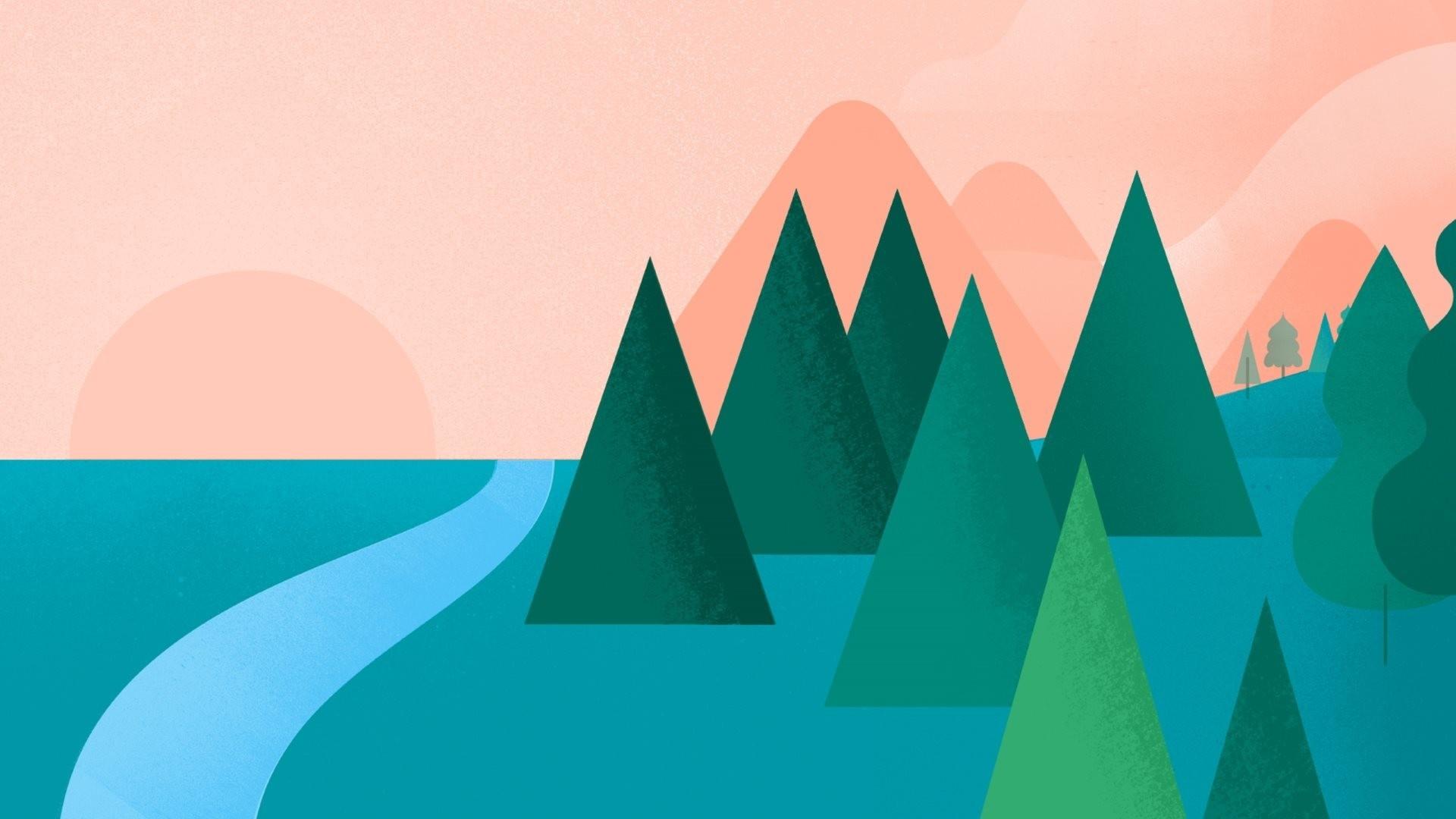Tree Minimalist Desktop wallpaper