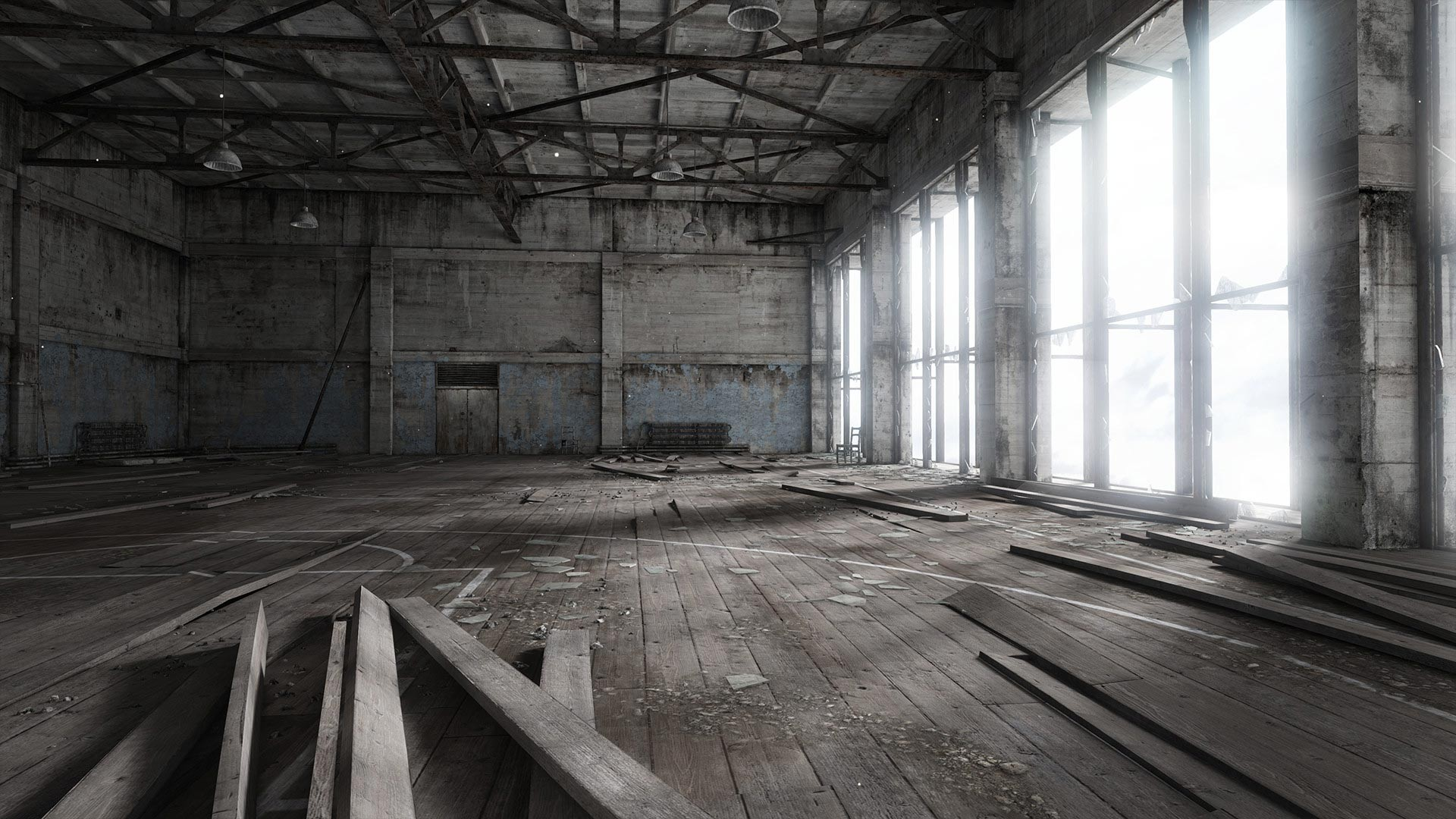 Abandoned Place Free Wallpaper