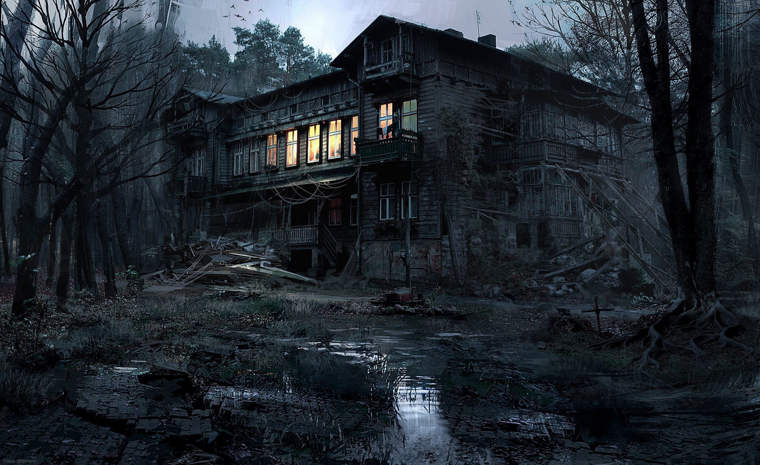 Abandoned Place Free Wallpaper and Background