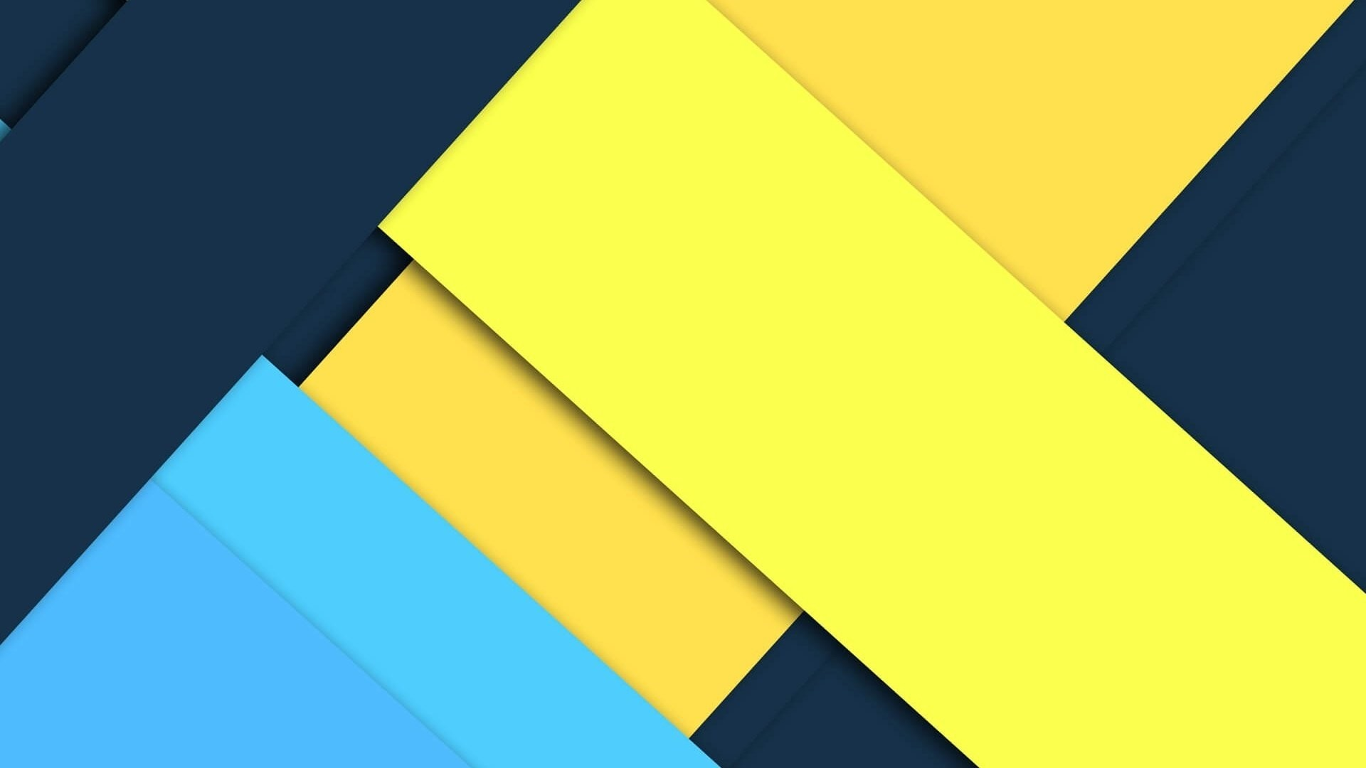 Blue And Yellow HD Wallpaper