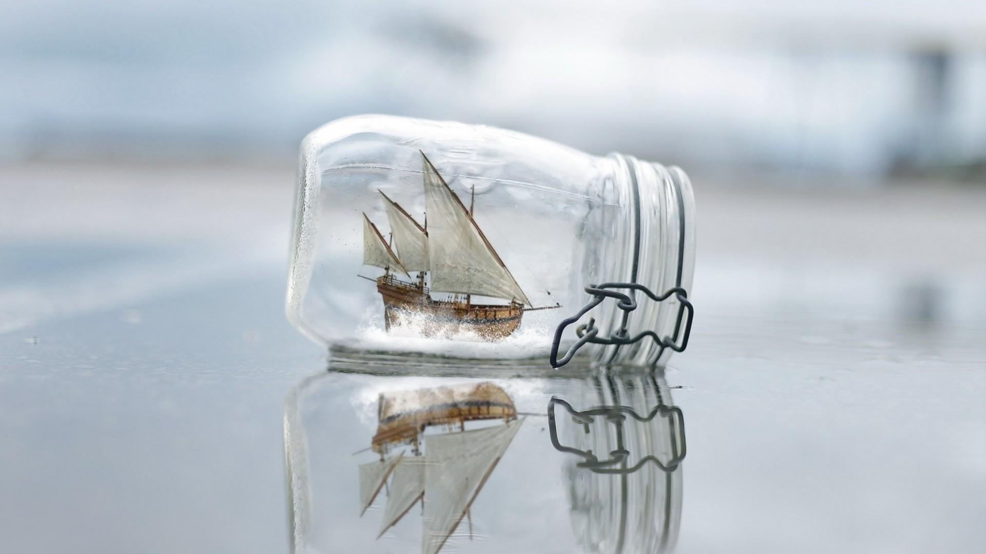 Ship In A Bottle Desktop wallpaper
