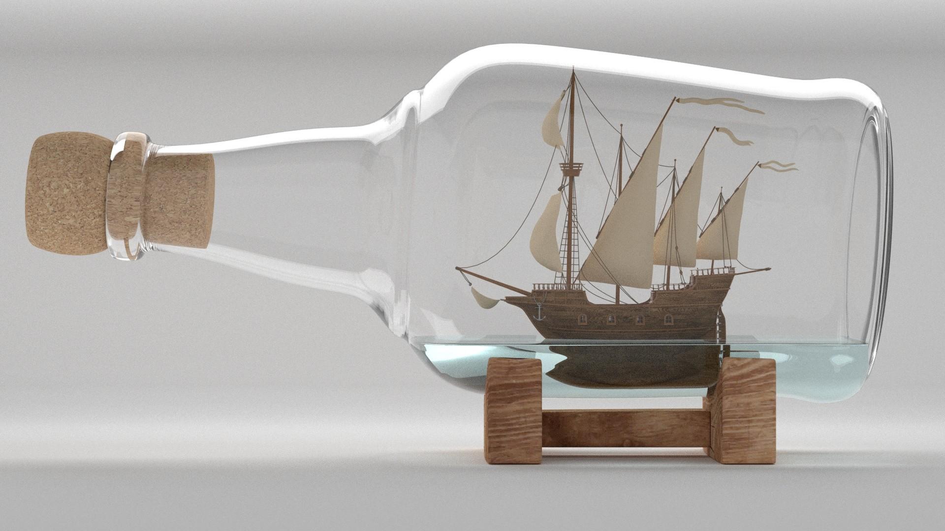 Ship In A Bottle a wallpaper