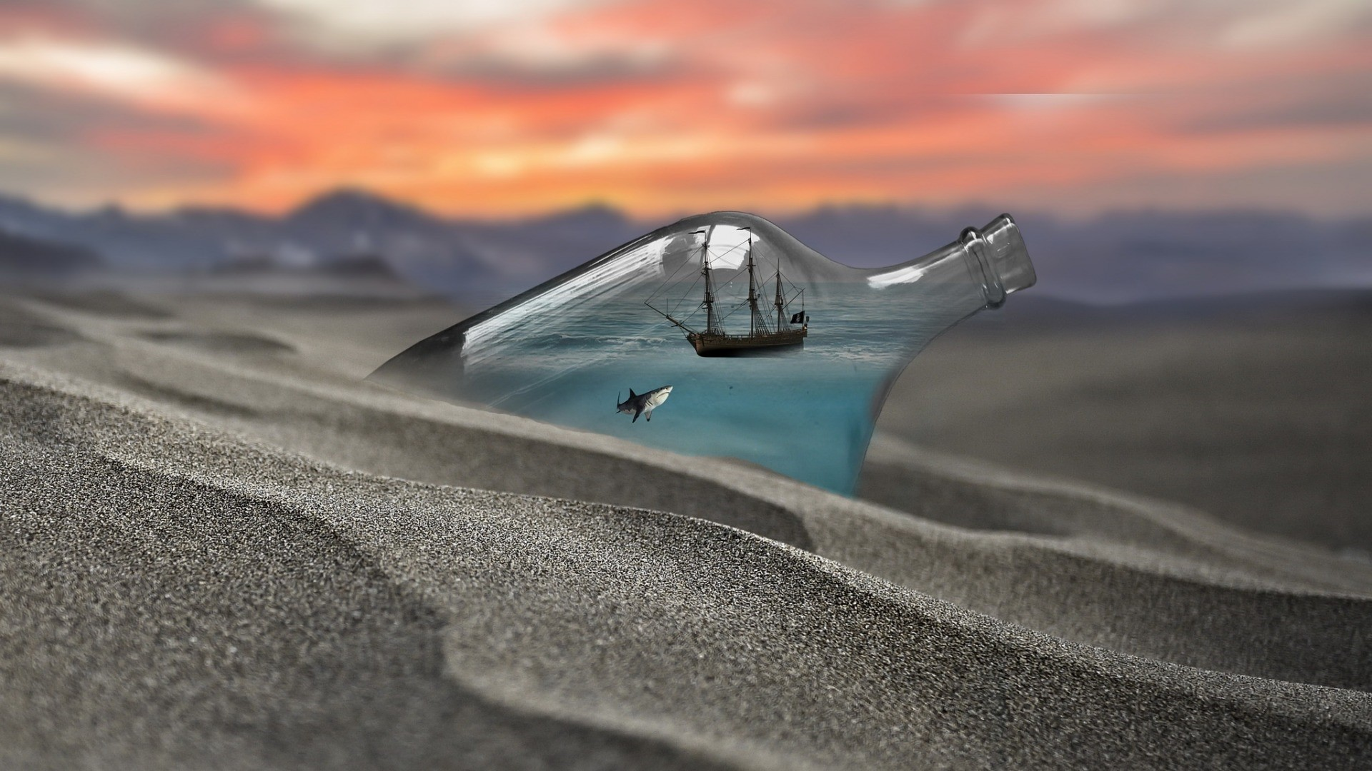 Ship In A Bottle Background