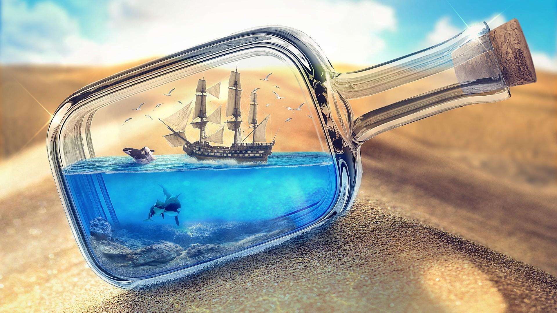 Ship In A Bottle Download Wallpaper