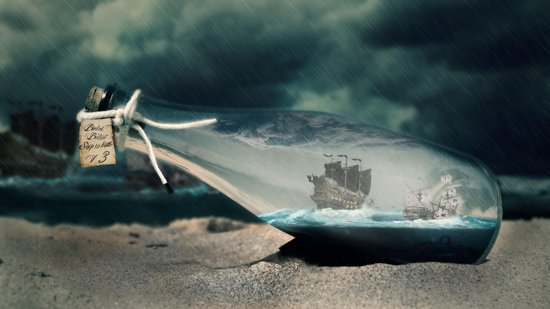 Ship In A Bottle PC Wallpaper HD