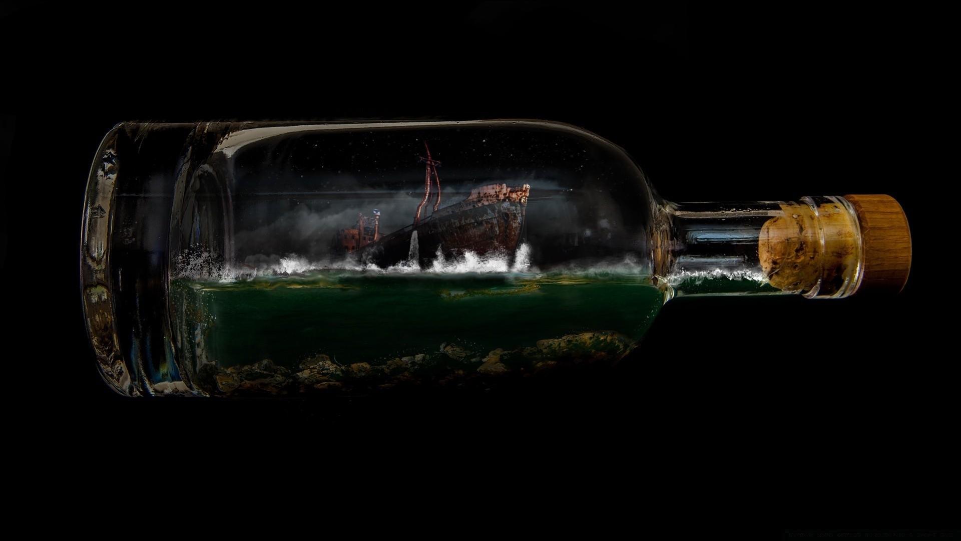 Ship In A Bottle Wallpaper image hd