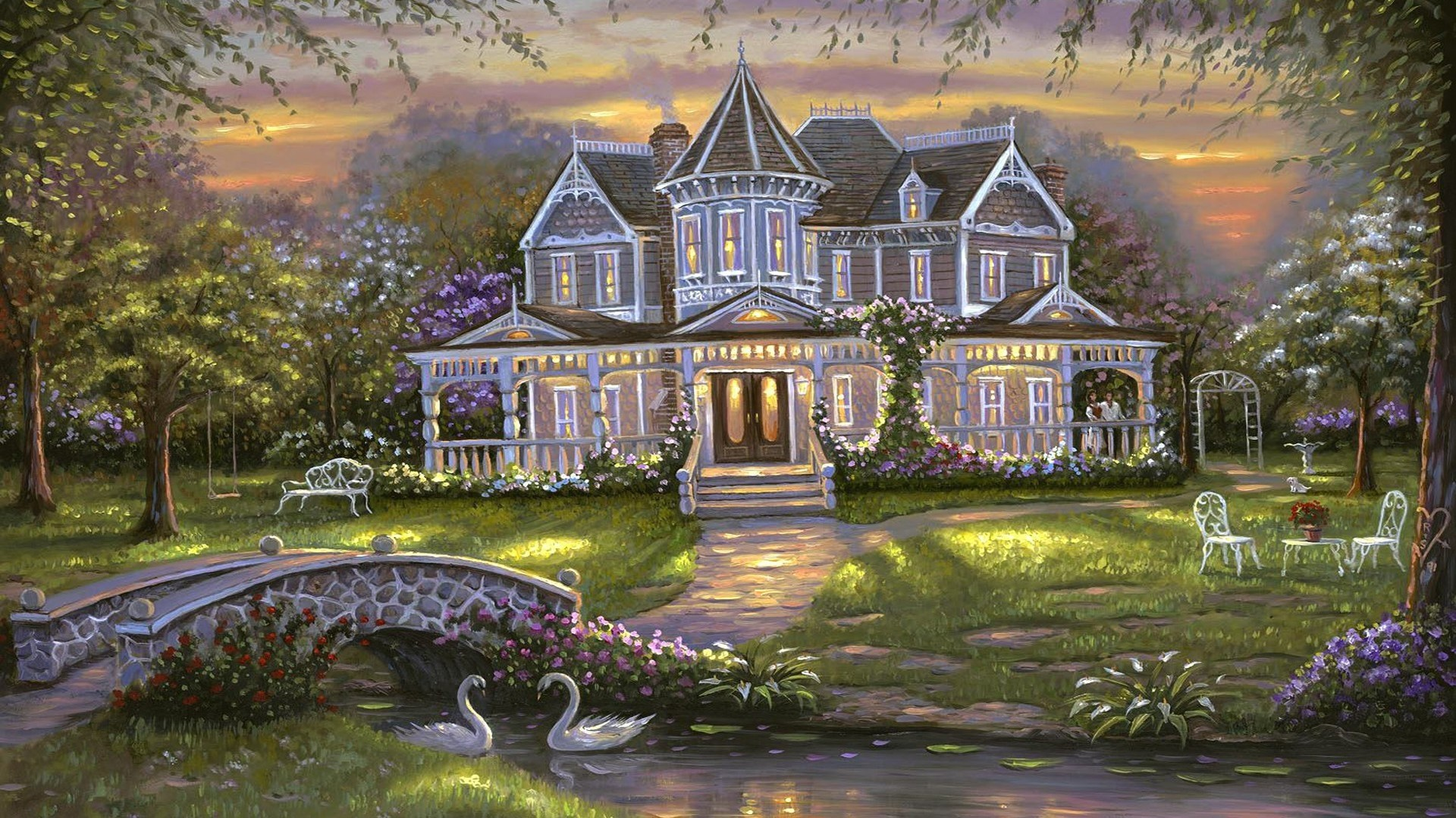House By The River Art Picture