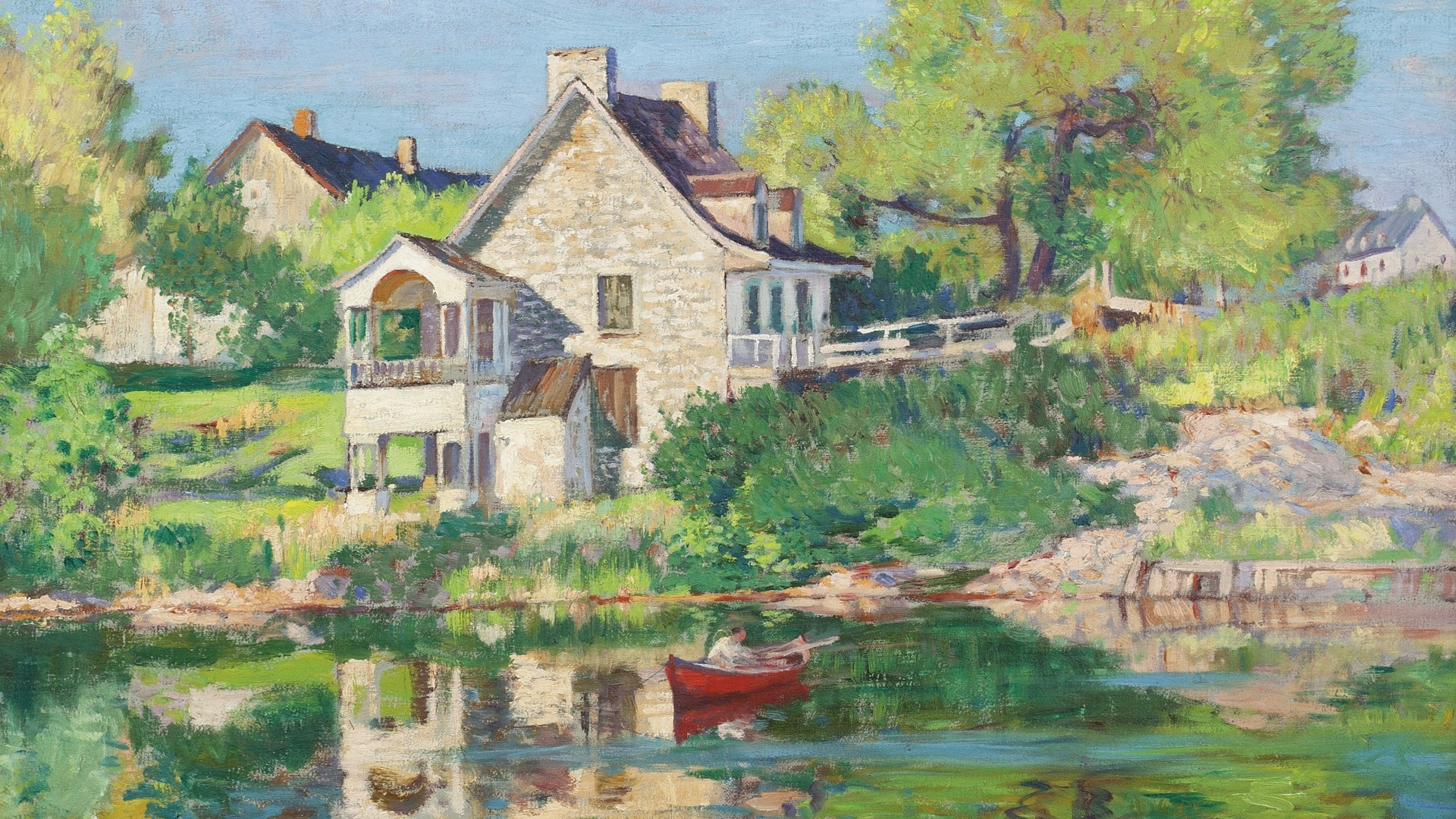 House By The River Art Pic
