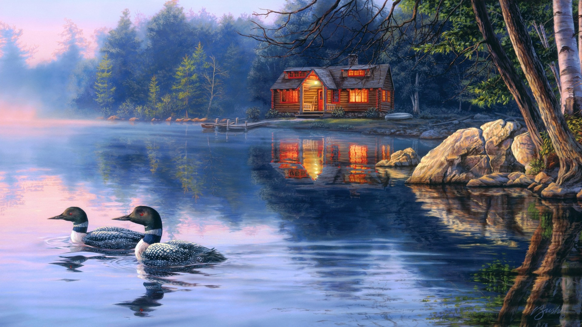 House By The River Art High Quality