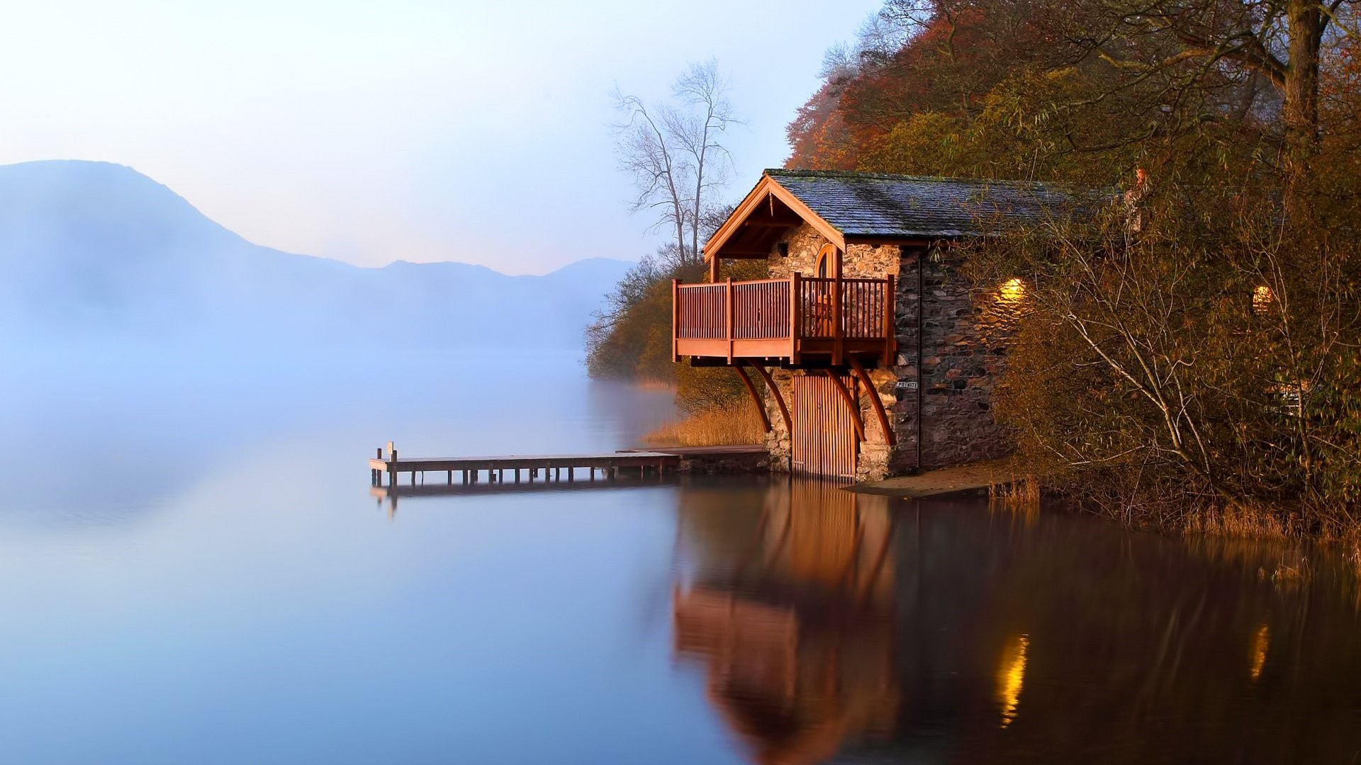 House By The River Art hd wallpaper download