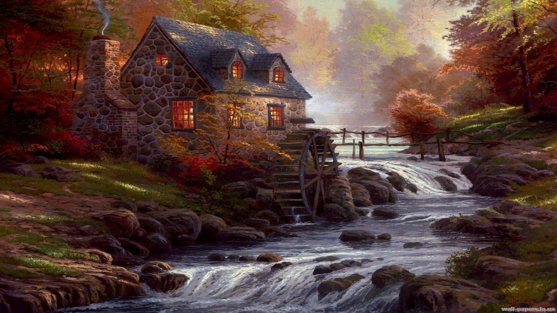 House By The River Art HD Download