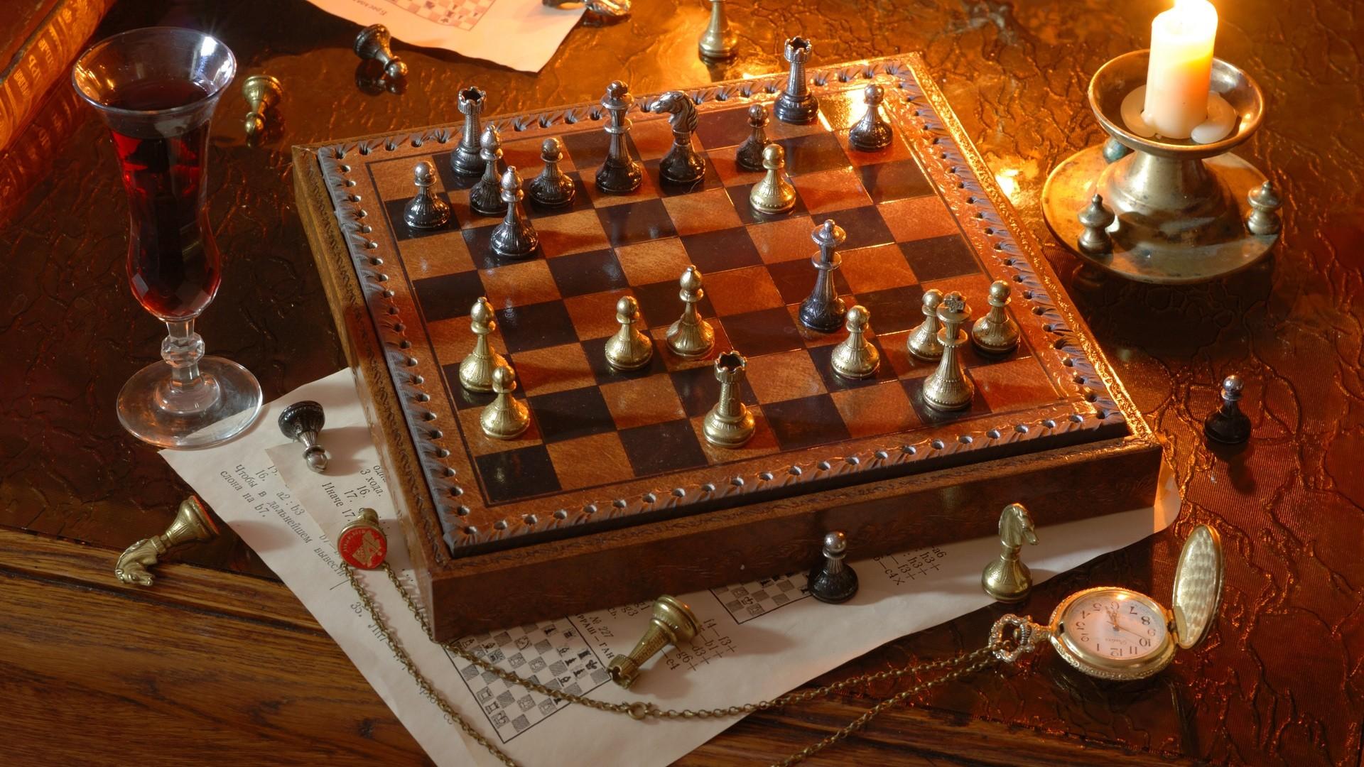 Chess Background Wallpaper