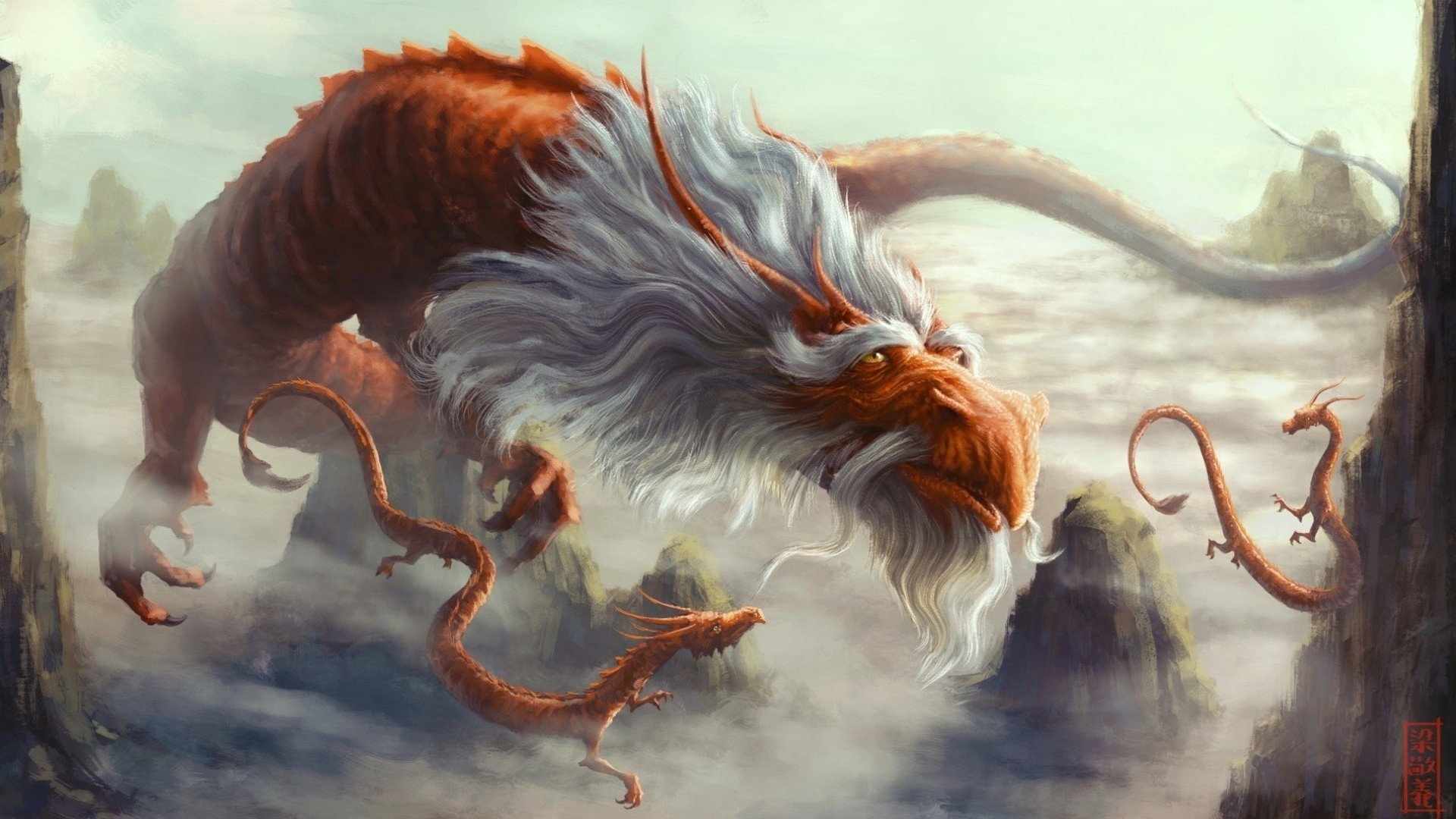 Chinese Dragon Background Wallpaper