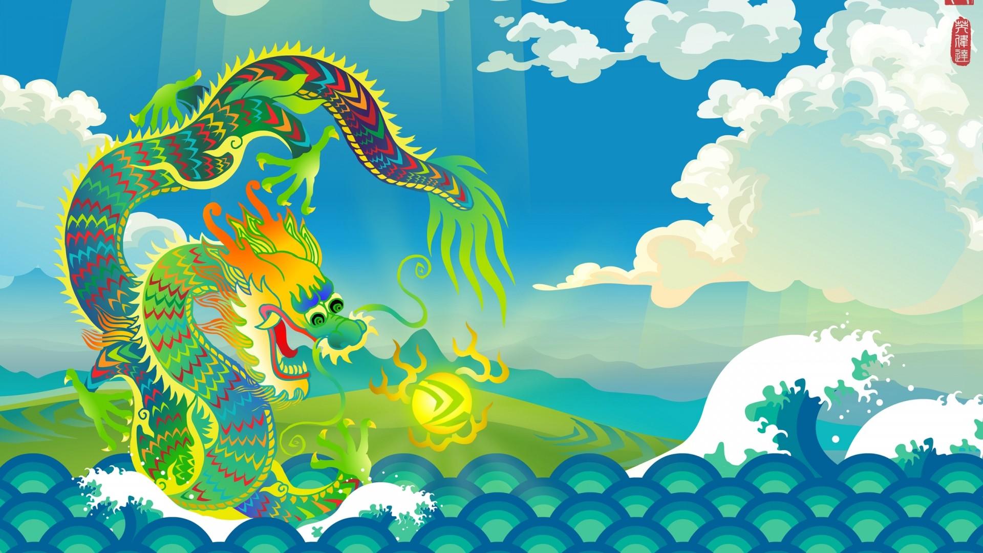 Chinese Dragon a wallpaper