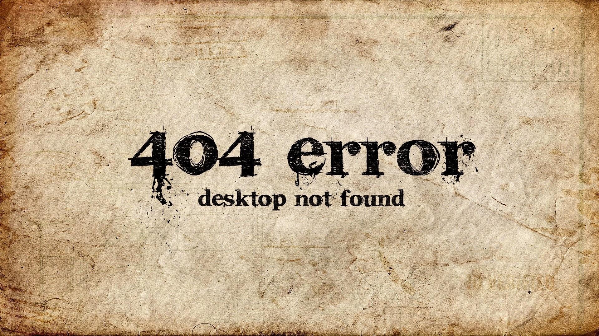 Error 404 computer wallpaper